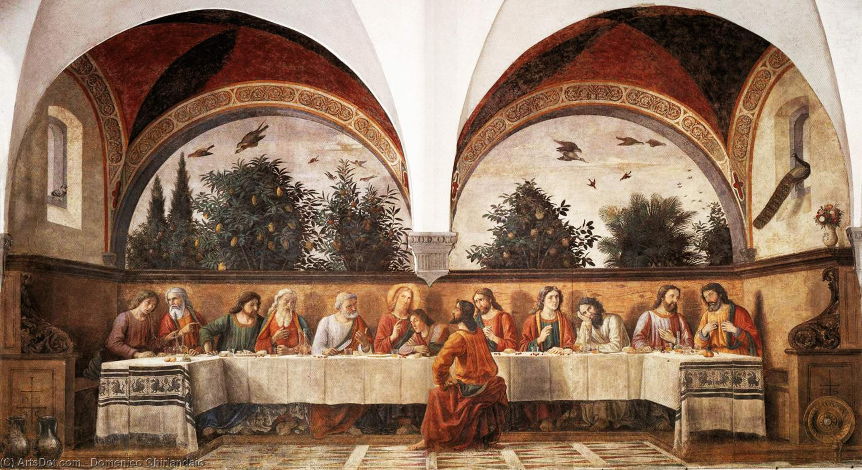 Last Supper (11), Frescoes by Domenico Ghirlandaio (1449-1494, Italy)