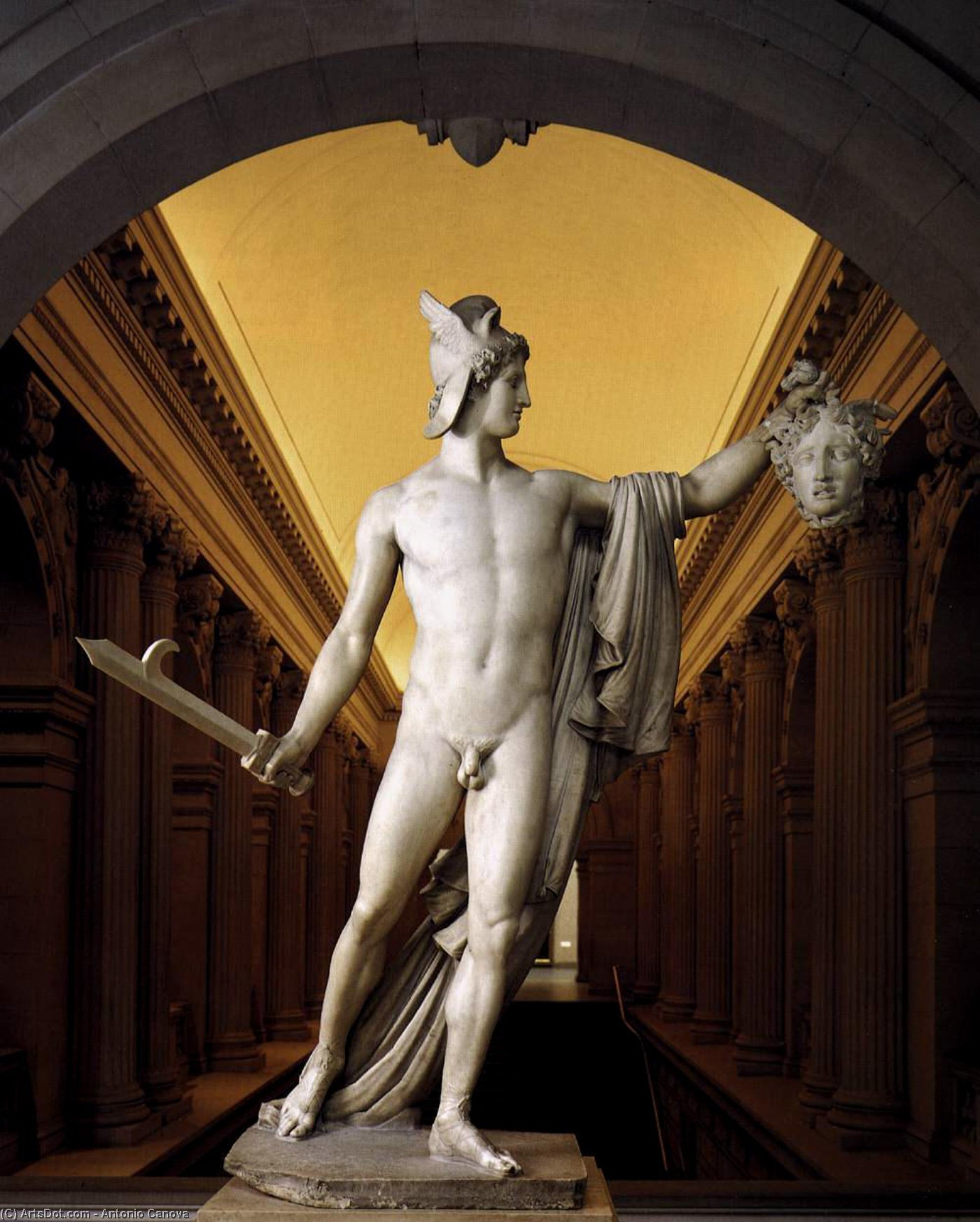 Perseus with the Head of Medusa, Marble by Antonio Canova (1757-1822, Italy)