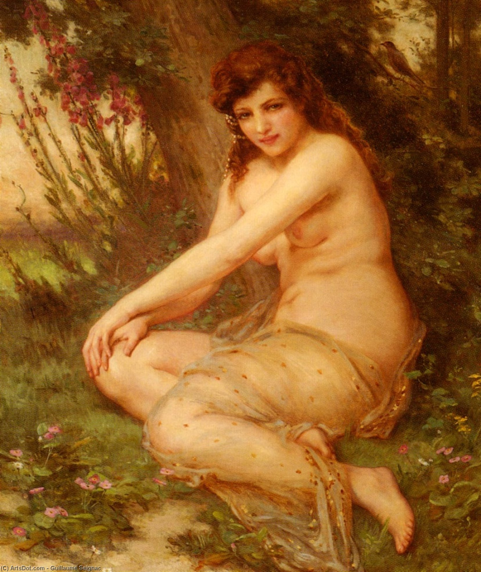 La Nymphe de Foret (also known as The Forest Nymph) by Guillaume Seignac (1870-1924, France) | Art Reproduction | ArtsDot.com