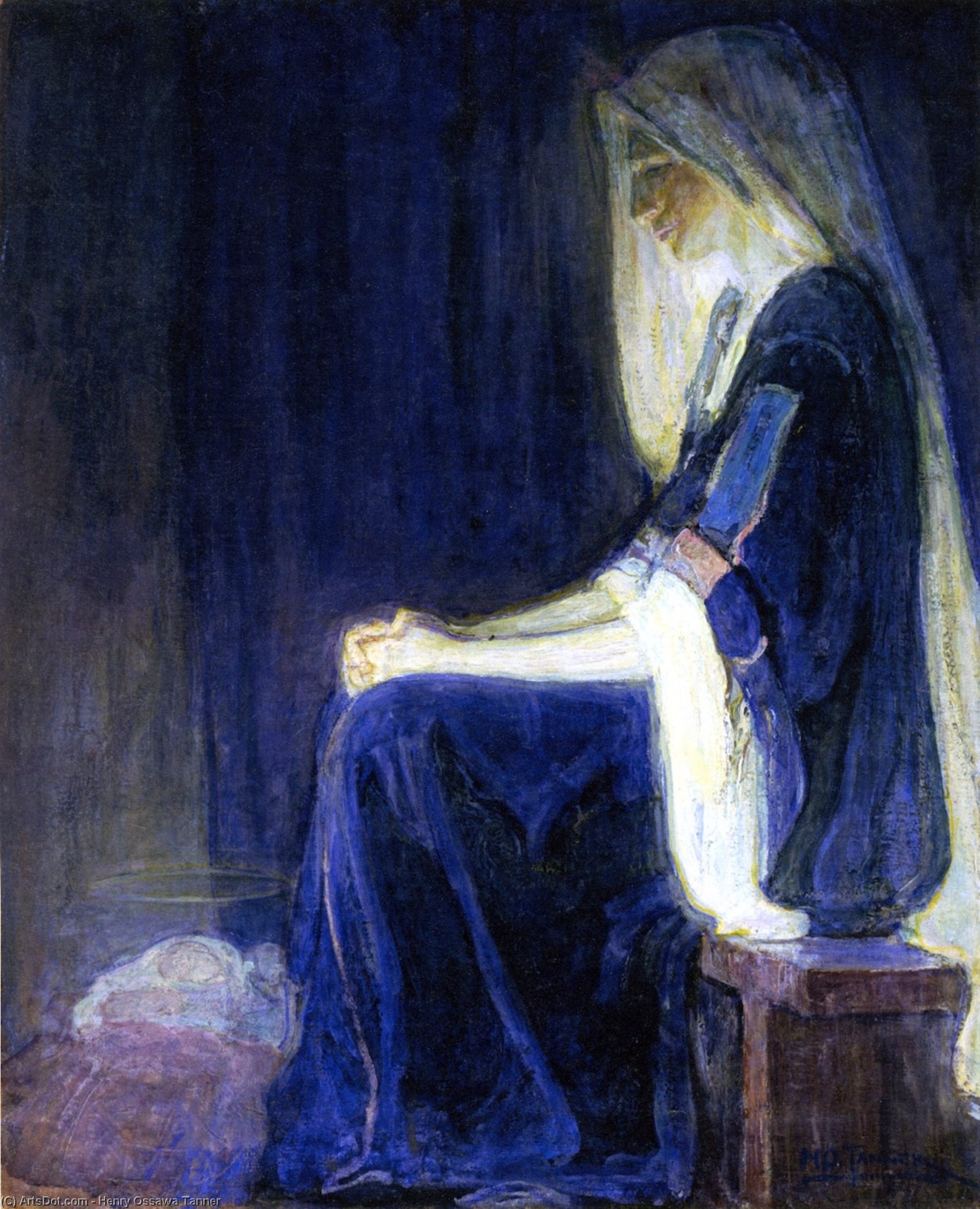 Mary, Oil On Canvas by Henry Ossawa Tanner (1859-1937, United States)
