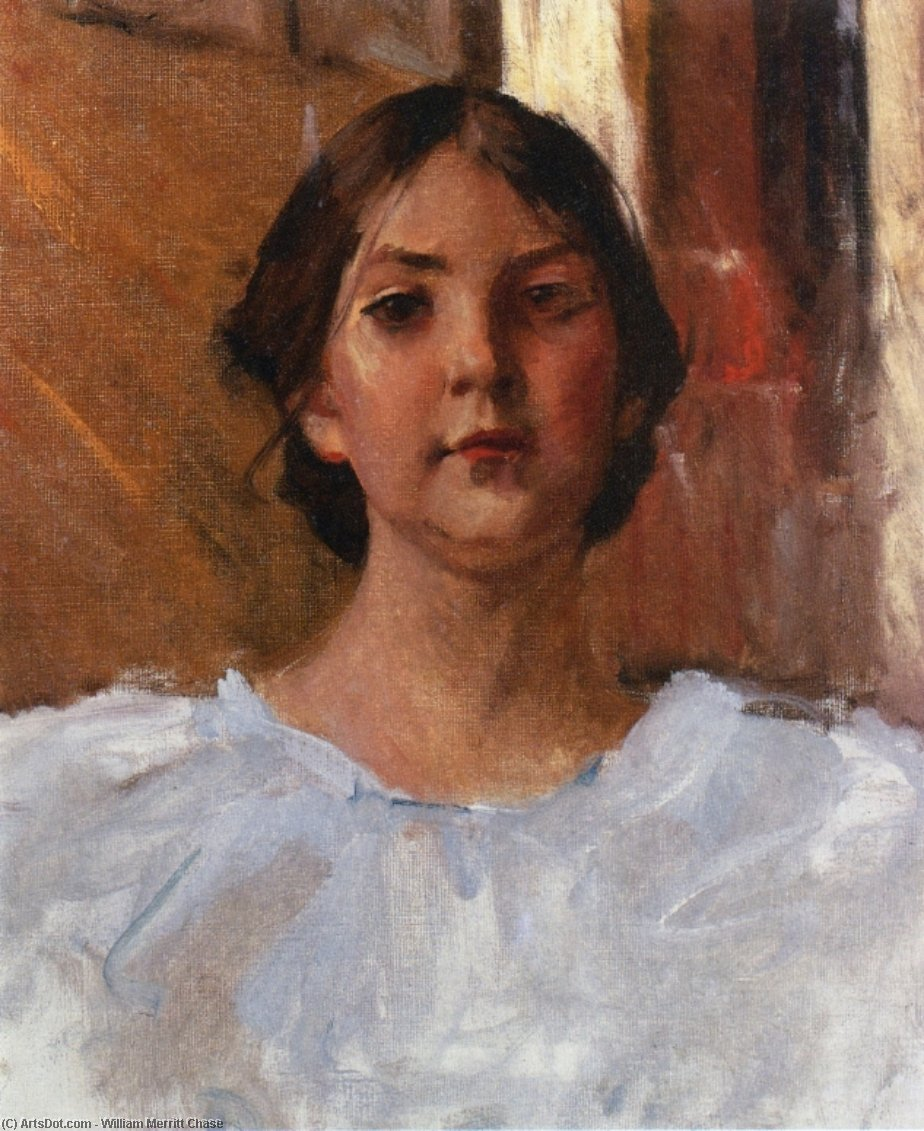 My Daughter Dorothy, Oil On Canvas by William Merritt Chase (1849-1916, United States)