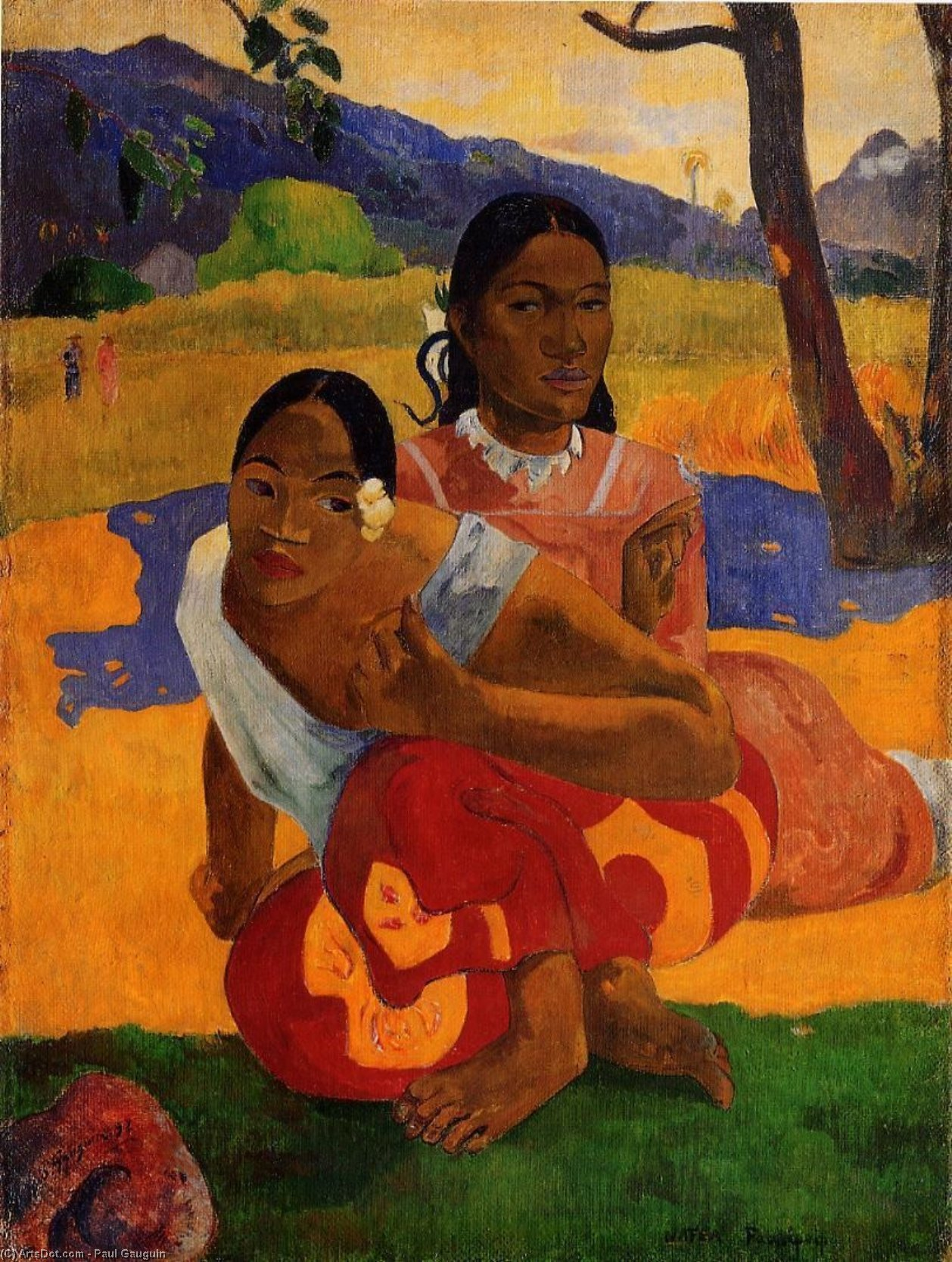 Nafeaffaa Ipolpo (also known as When Will You Marry.), 1892 by Paul Gauguin (1848-1903, France) | Paintings Reproductions Paul Gauguin | ArtsDot.com