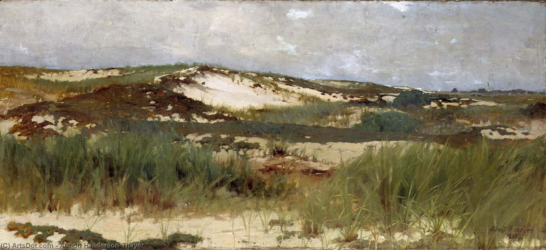 Nantucket Sand Dune, Oil On Canvas by Abbott Handerson Thayer (1849-1921, United States)