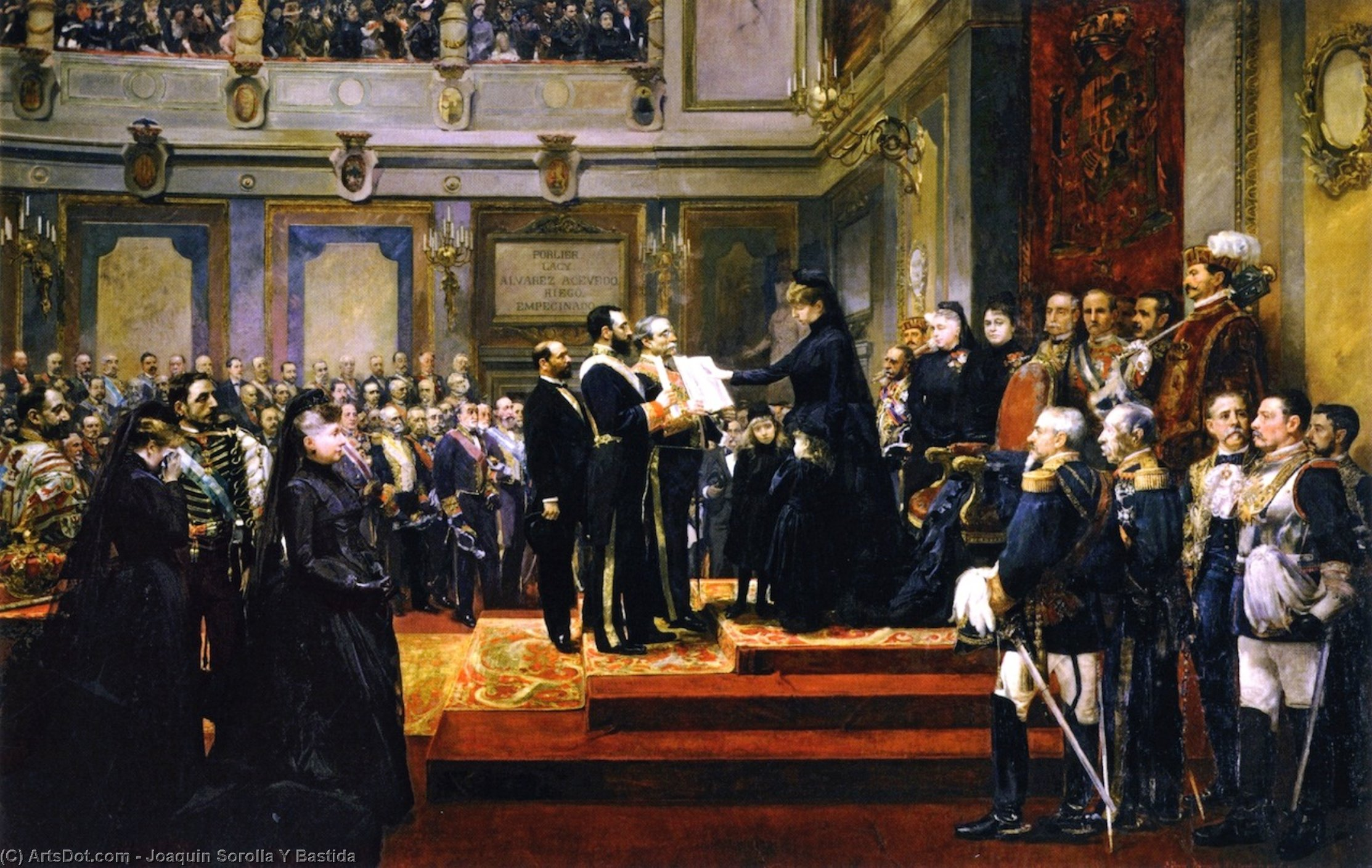 Pledge to the Constitution of 1876 by the Regent Maria Cristina of Hapsburg, Oil On Canvas by Joaquin Sorolla Y Bastida (1863-1923, Spain)