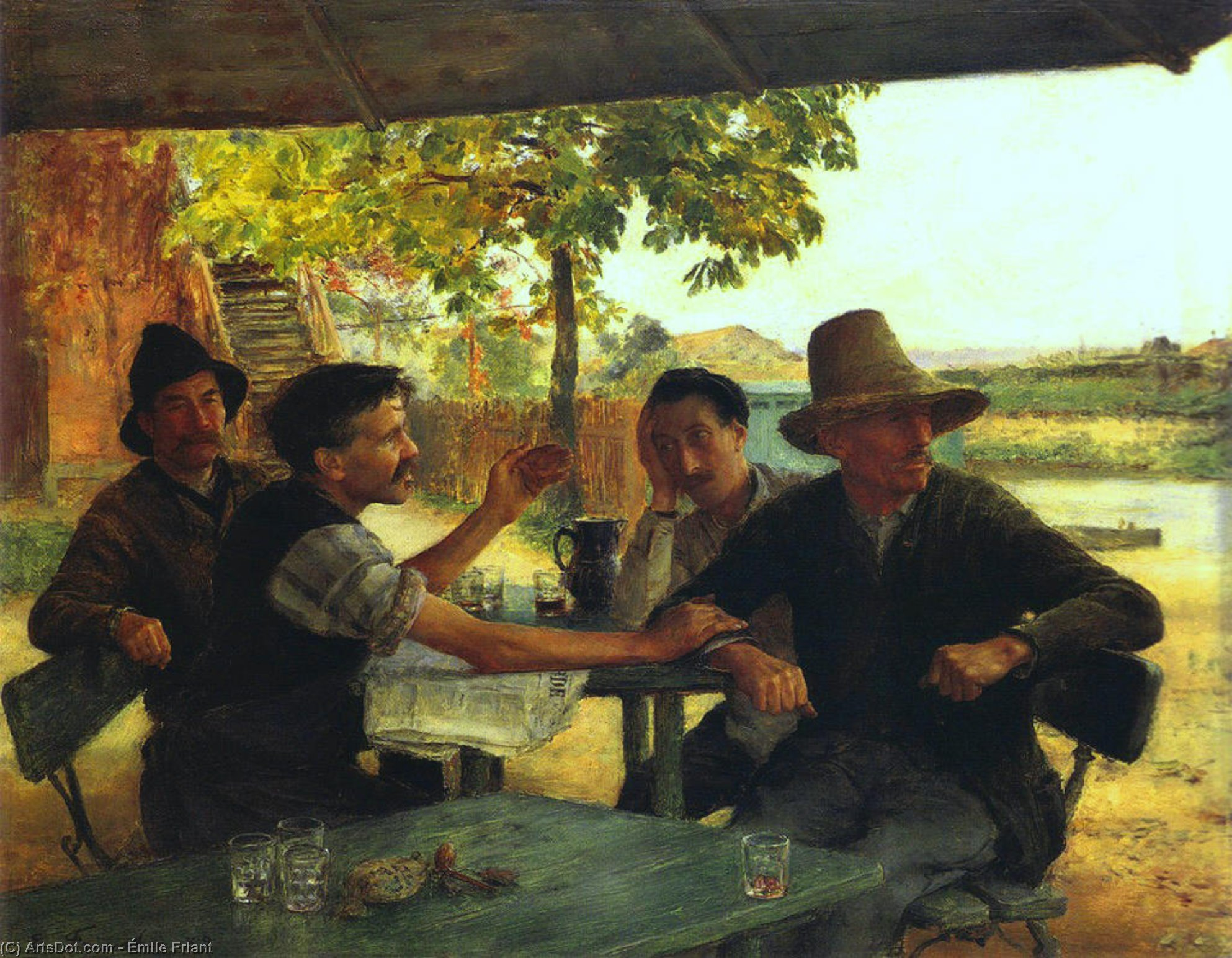 Political Dicussion, 1889 by Émile Friant (1863-1932, France)