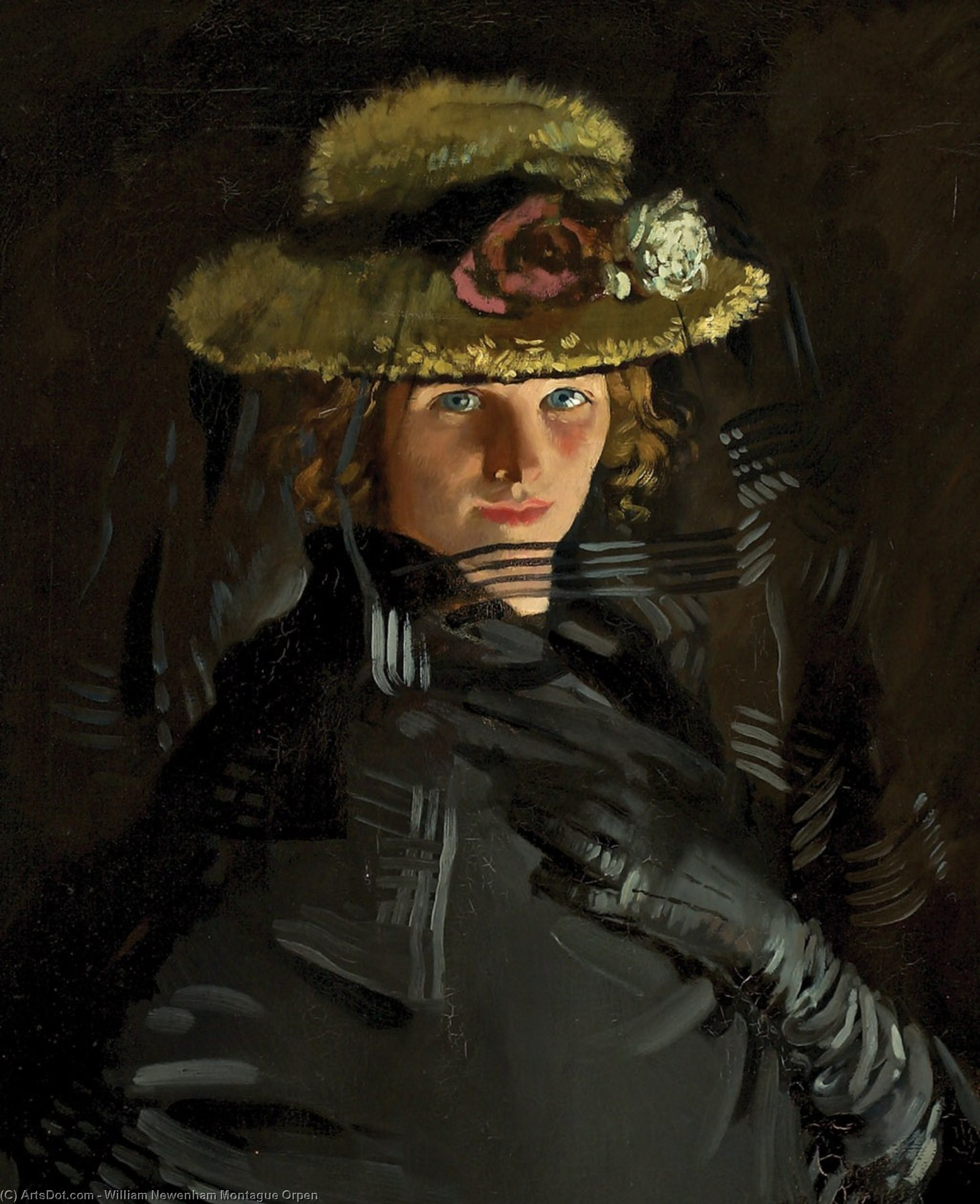 Portrait of Grace (The Artist's 1st Wife), 1907 by William Newenham Montague Orpen (1878-1931, Ireland)