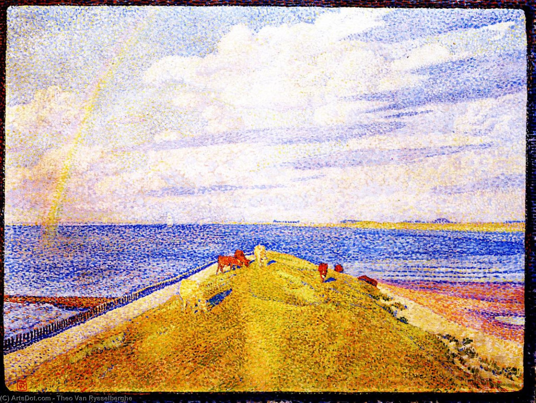 Rainbow, Oil On Canvas by Theo Van Rysselberghe (1862-1926, Belgium)