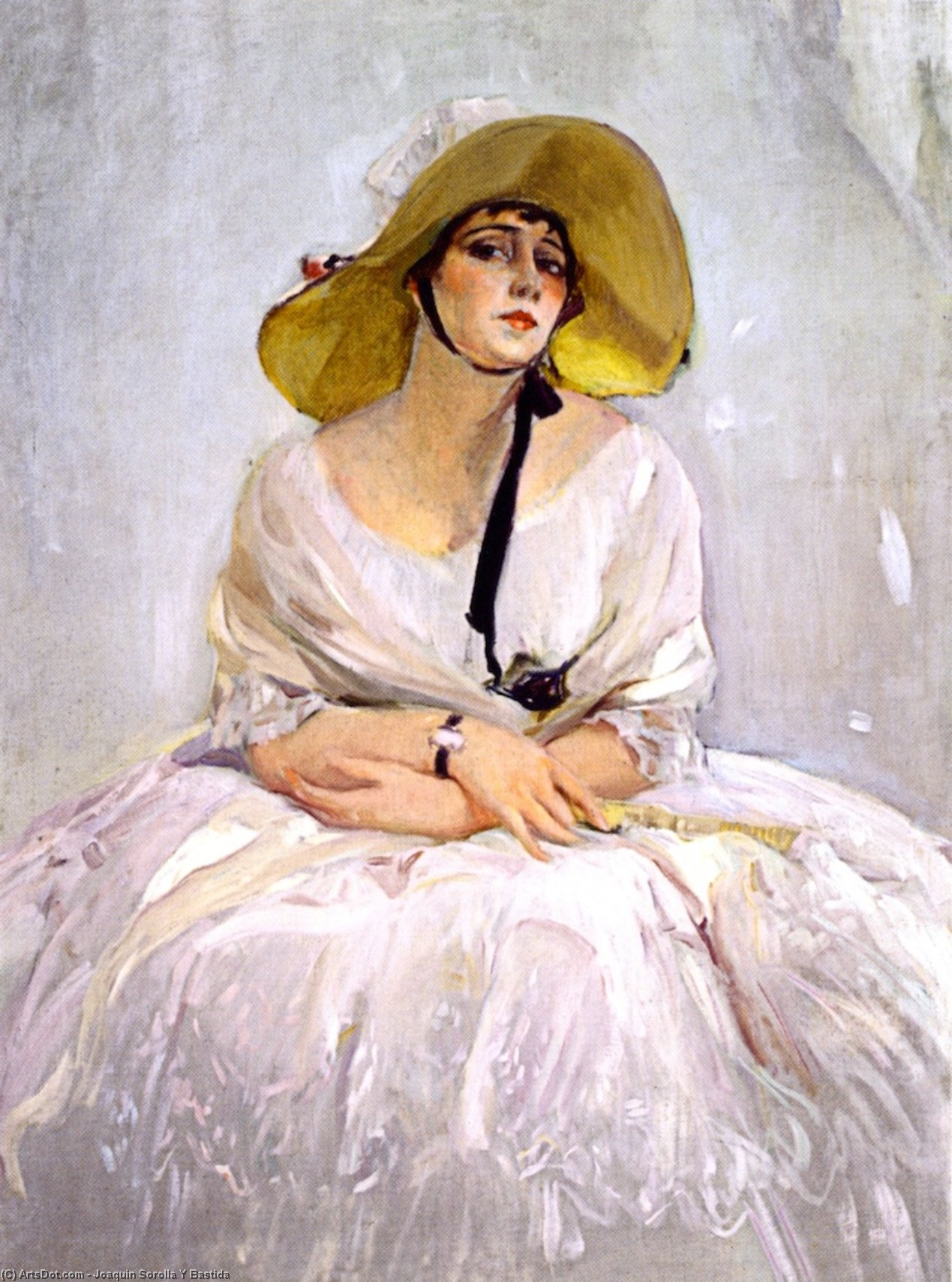 Raquel Meller, Oil On Canvas by Joaquin Sorolla Y Bastida (1863-1923, Spain)