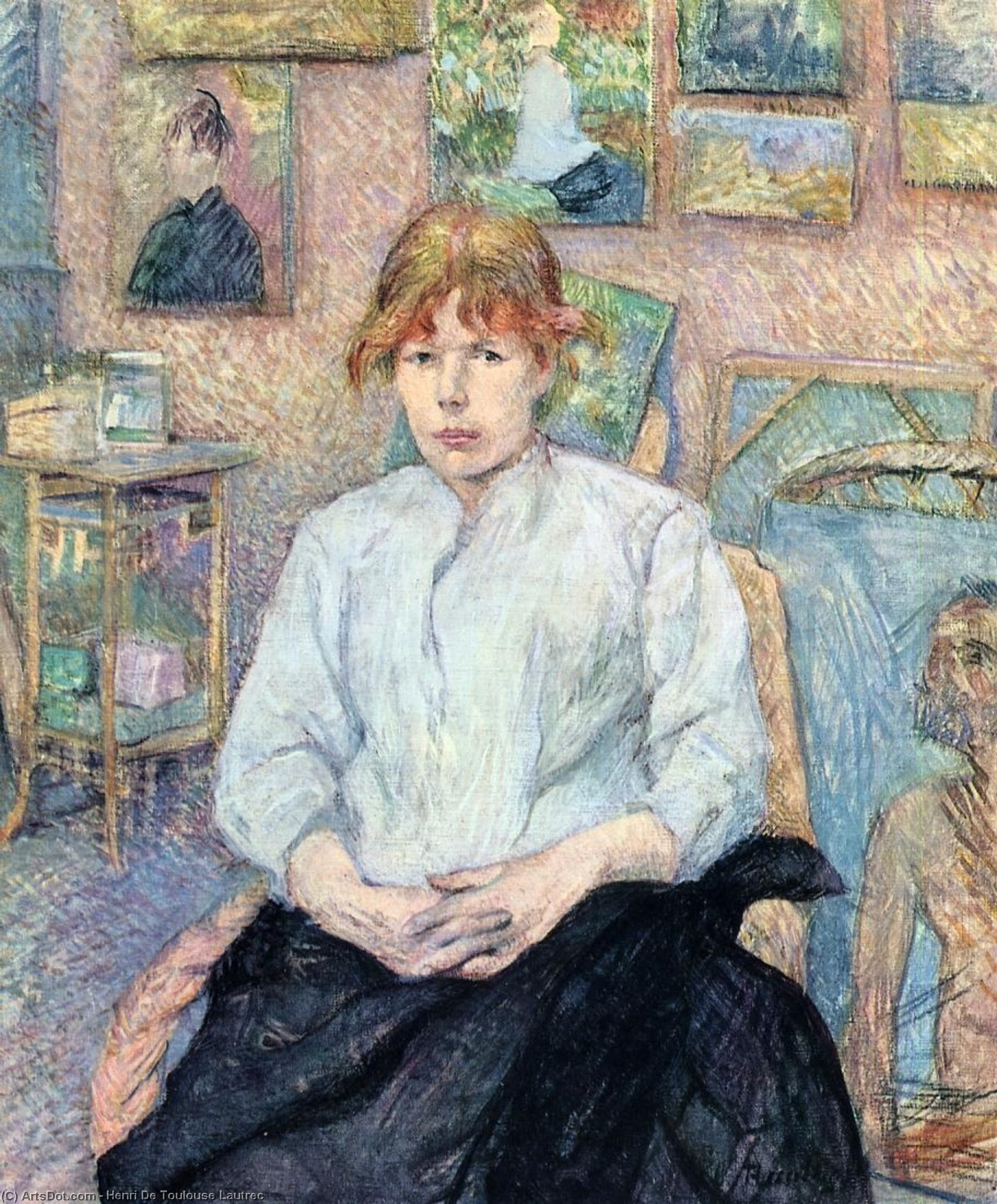 The Redhead with a White Blouse, Oil On Canvas by Henri De Toulouse Lautrec (1864-1901, France)