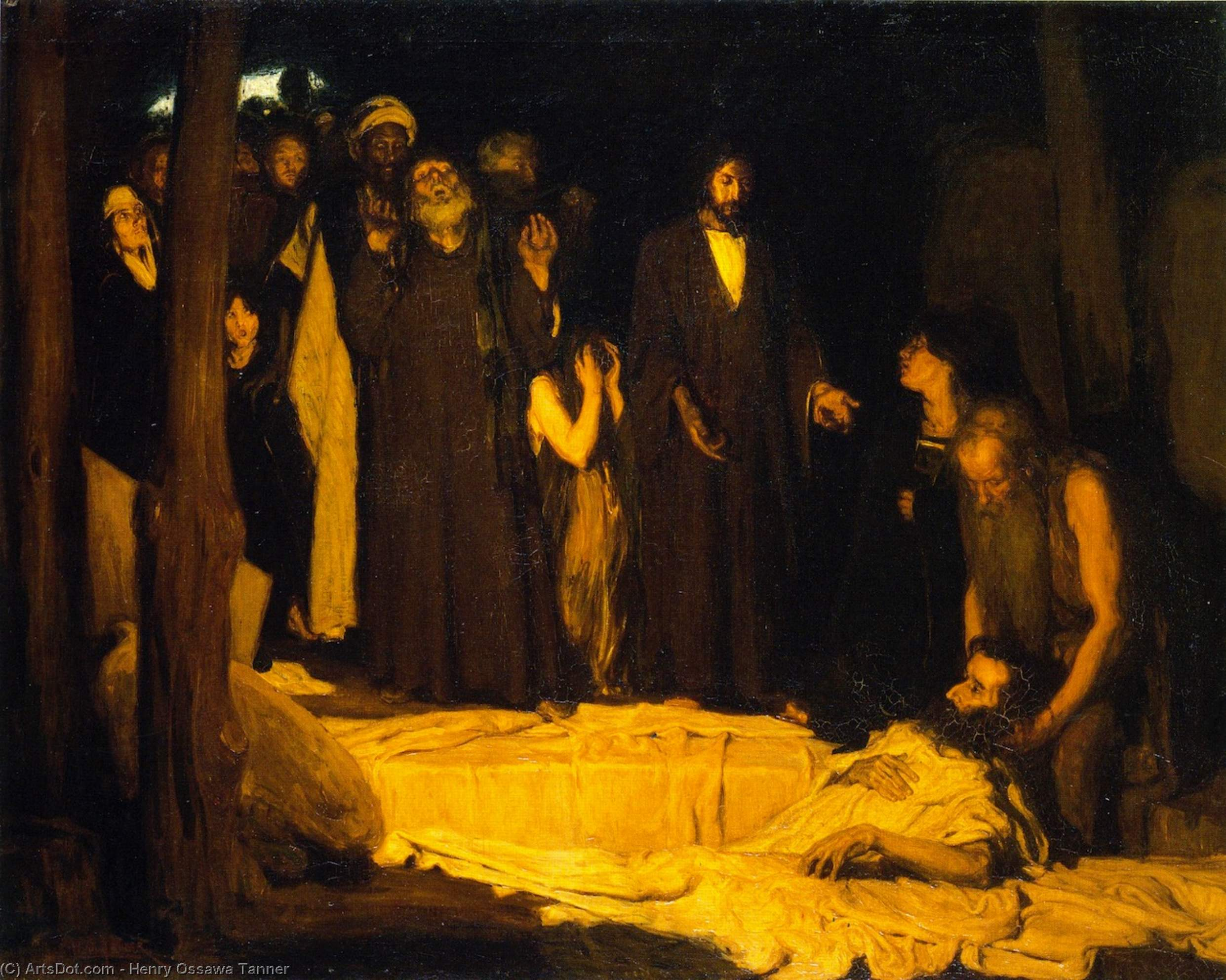 The Resurrection of Lazarus, Oil On Canvas by Henry Ossawa Tanner (1859-1937, United States)