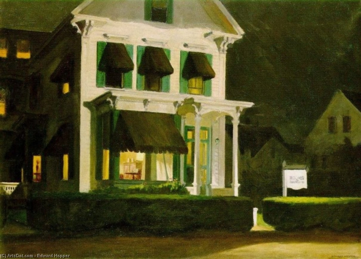 Rooms for Tourists, 1945 by Edward Hopper (1931-1967, United States) |  | ArtsDot.com