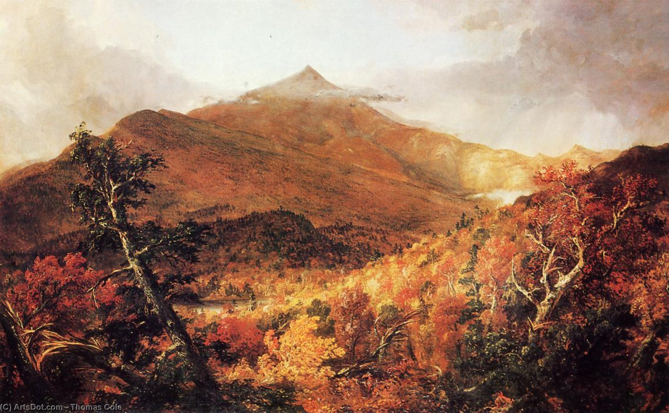 Schroon Mountain, Adirondacks, Essex County, New York, after a Storm, Oil On Canvas by Thomas Cole (1801-1848, United Kingdom)