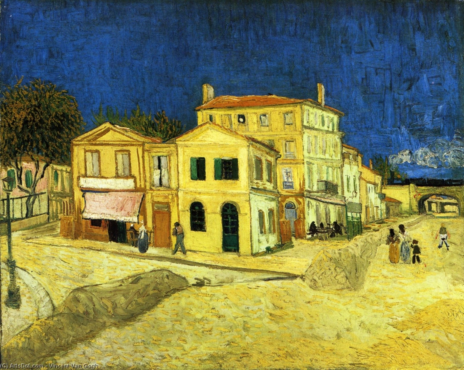 The Street, the Yellow House, 1888 by Vincent Van Gogh (1853-1890, Netherlands) | Paintings Reproductions Vincent Van Gogh | ArtsDot.com
