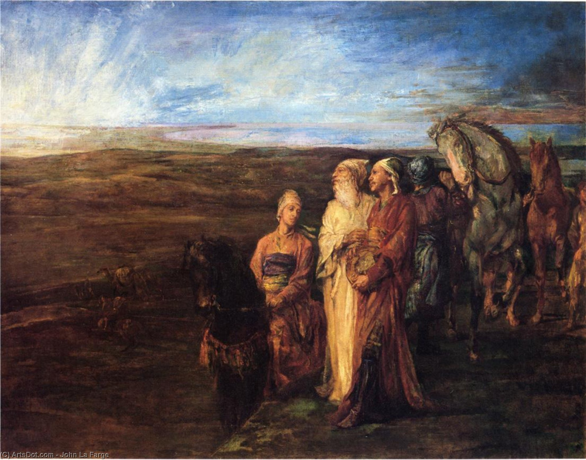 The Three Wise Men (also known as Halt of the Wise Men), 1878 by John La Farge (1835-1910, United States) | Painting Copy | ArtsDot.com