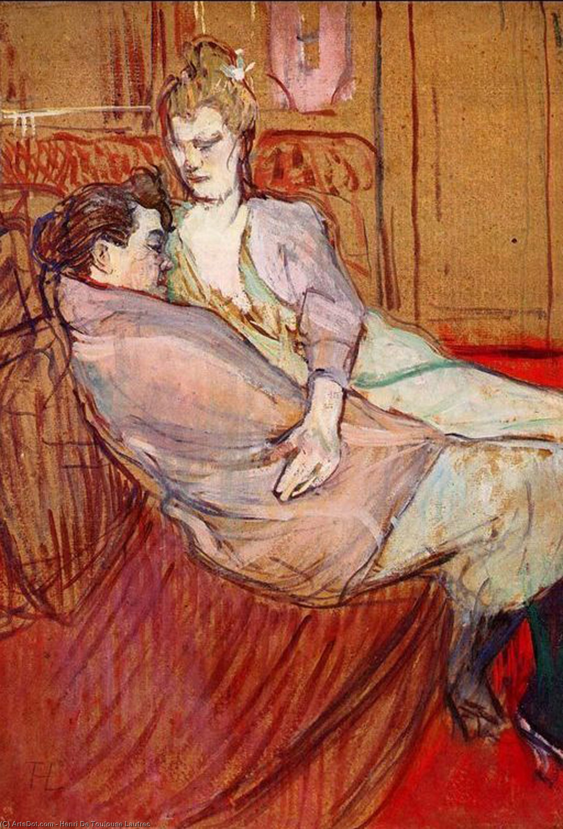 Two Friends, Oil On Panel by Henri De Toulouse Lautrec (1864-1901, France)