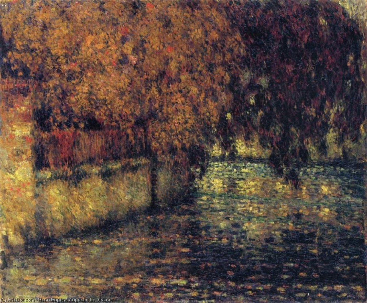 The Wall, Autumn, Oil On Canvas by Henri Eugène Augustin Le Sidaner (1862-1939, Mauritius)