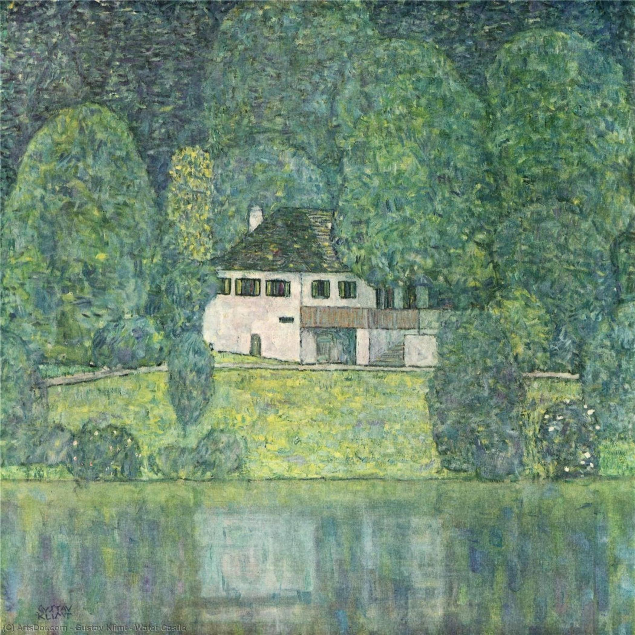 Water Castle, 1908 by Gustav Klimt (1862-1918, Austria) | Art Reproduction | ArtsDot.com