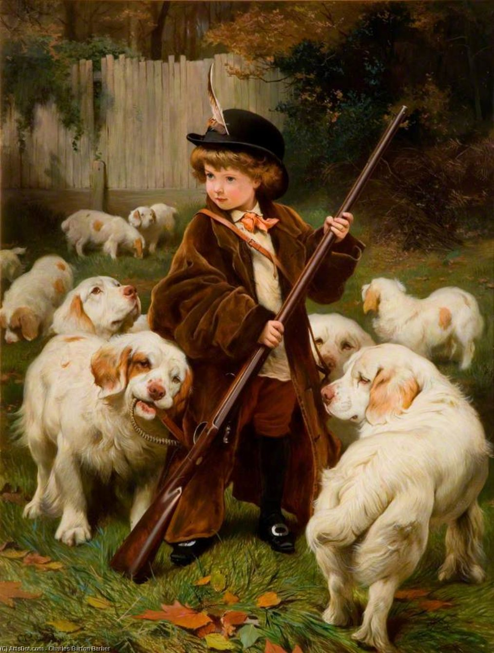 The New Keeper by Charles Burton Barber (1845-1894, United Kingdom) | Museum Quality Reproductions | ArtsDot.com