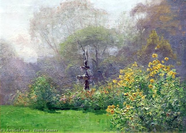 Buy Museum Art Reproductions : The Fountain by Elioth Gruner (1882-1939, New Zealand) | ArtsDot.com
