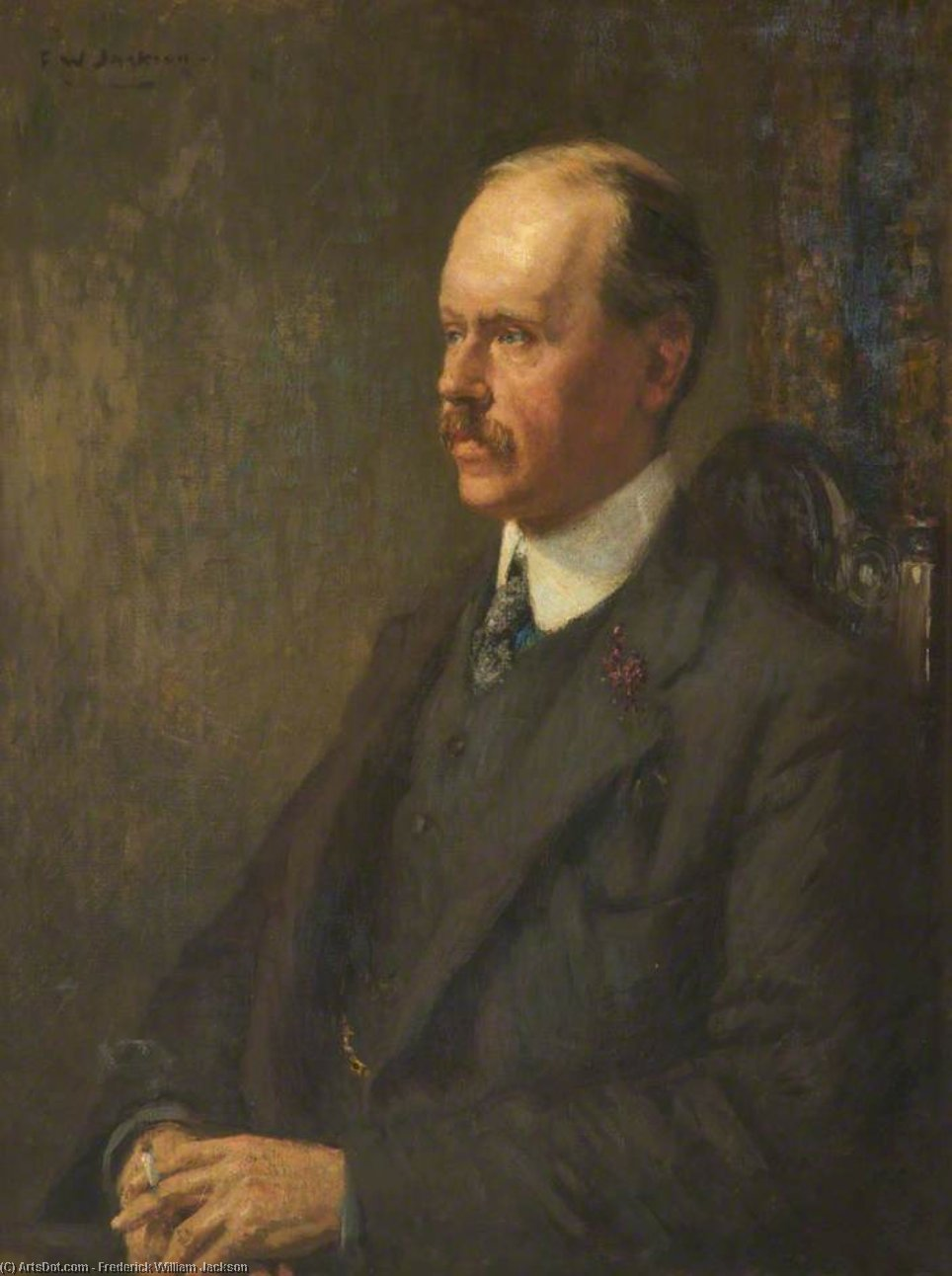 A. G. C. Hanley, President Of The Liberal Association by Frederick William Jackson (1859-1918, United Kingdom)