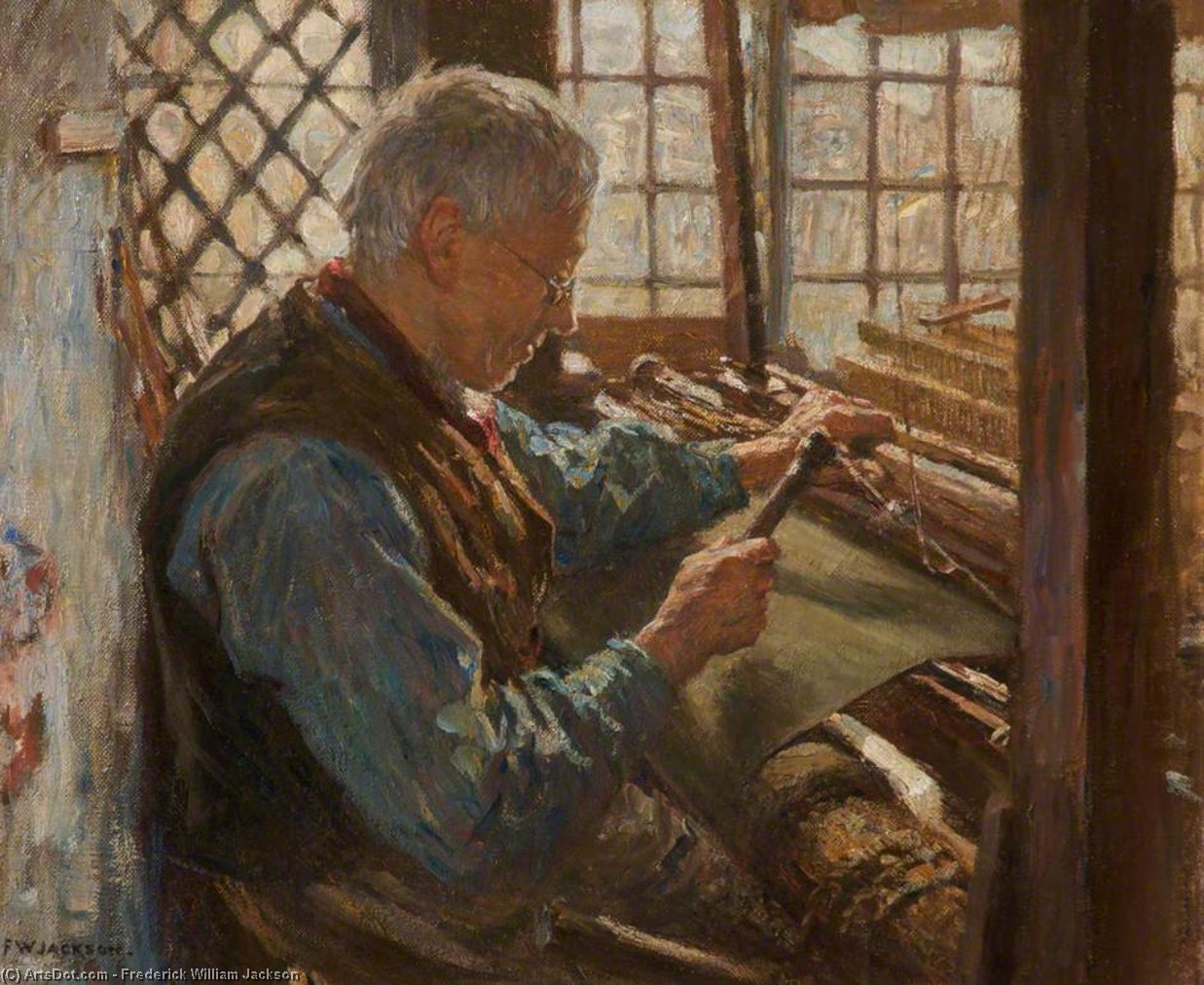 The Old Weaver by Frederick William Jackson (1843-1942, United States)