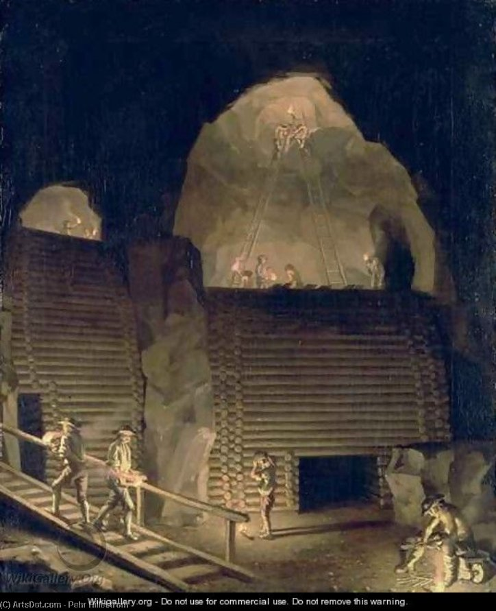 Falun Copper Mine by Pehr Hillestrom (1732-1816, Sweden)