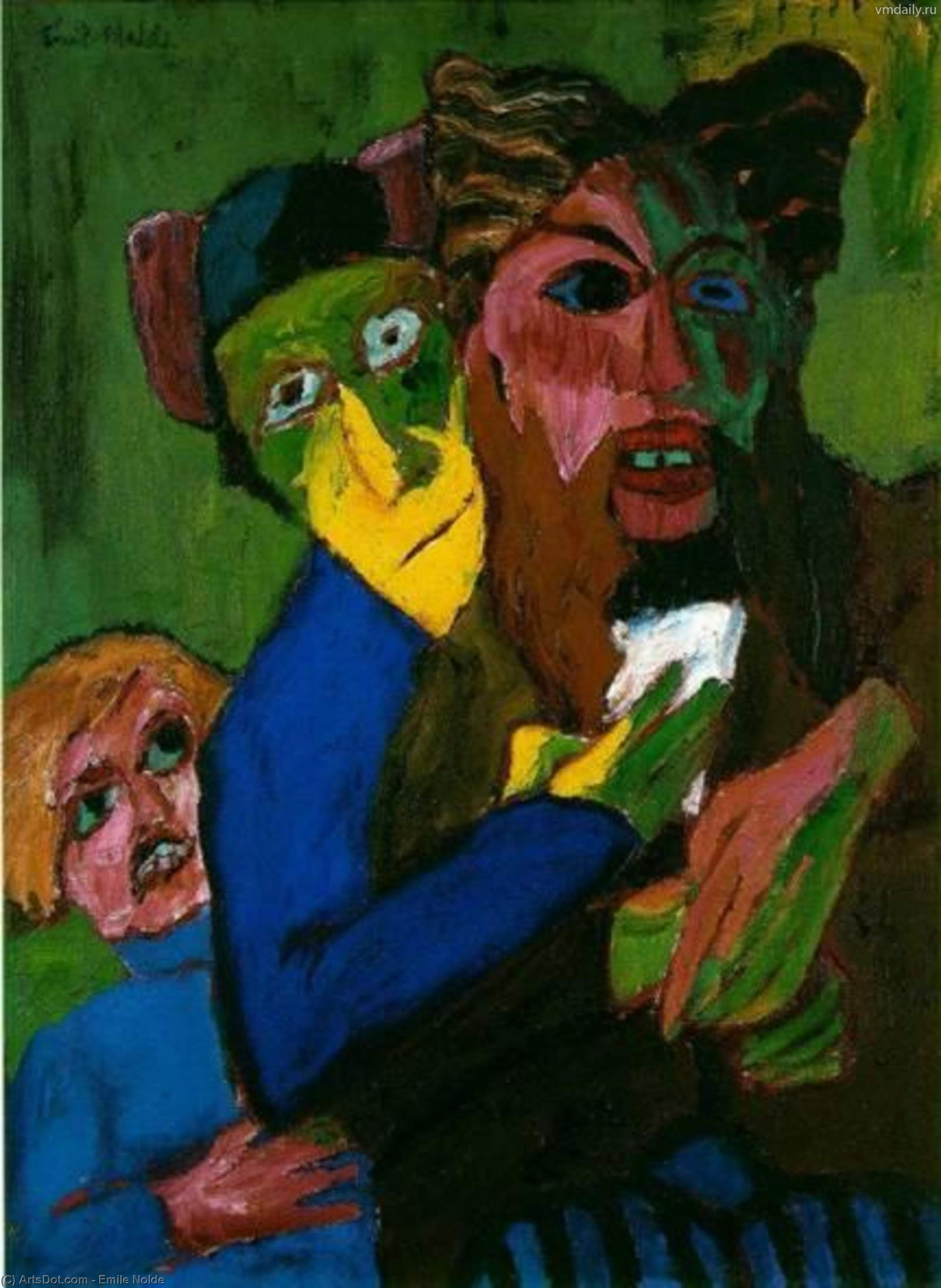 excited people - -, 1913 by Emile Nolde (1867-1956, Germany) | Museum Art Reproductions | ArtsDot.com