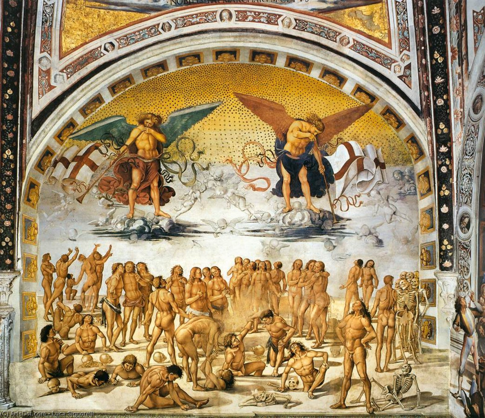 Resurrection of the Flesh by Luca Signorelli (1450-1523, Italy)