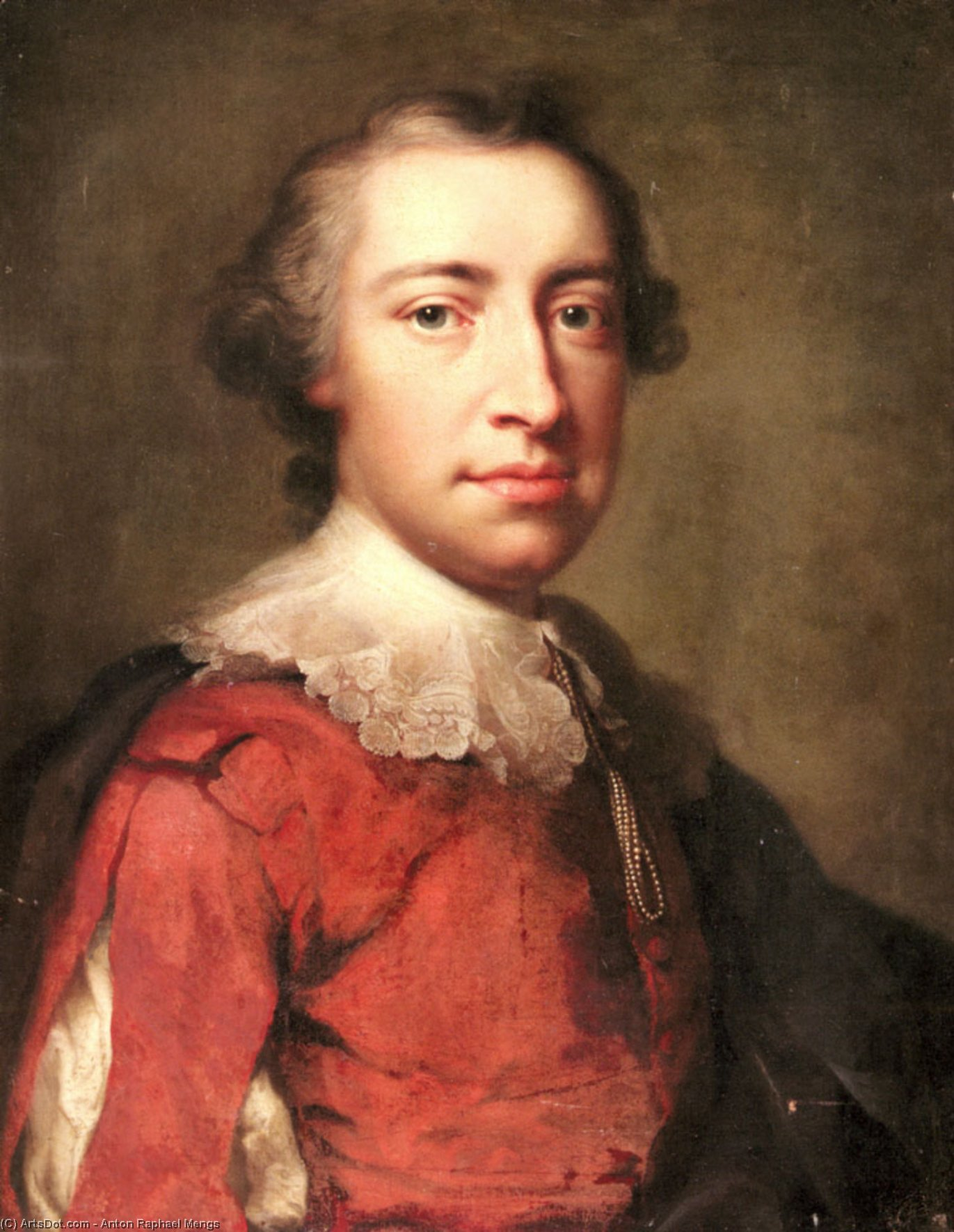 Portrait of a Gentleman by Anton Raphael Mengs (1728-1779, Czech Republic) | Museum Quality Reproductions | ArtsDot.com