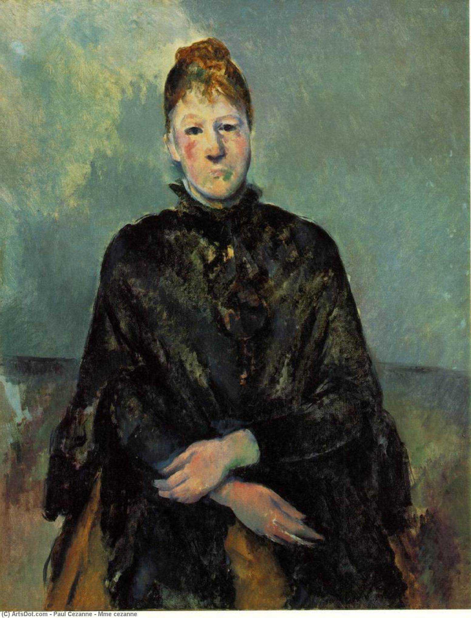 Order Oil Painting : Mme cezanne by Paul Cezanne (1839-1906, France) | ArtsDot.com