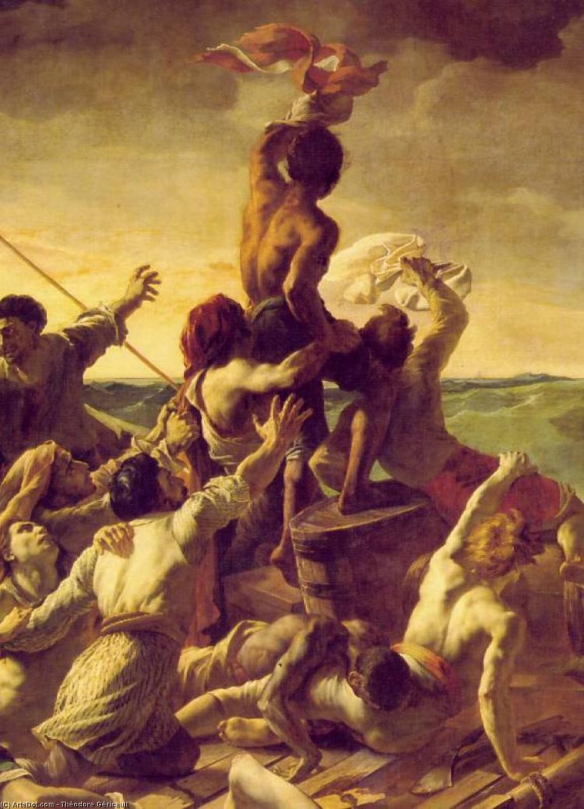 The Raft of the Medusa, Detalj,, 1819 by Jean-Louis André Théodore Géricault (1791-1824, France)