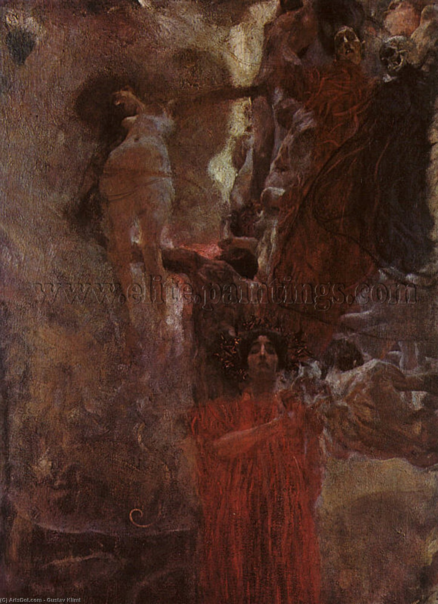 Order Museum Quality Copies | Medicine (compositional study), oil on canvas, 1898 by Gustav Klimt (1862-1918, Austria) | ArtsDot.com