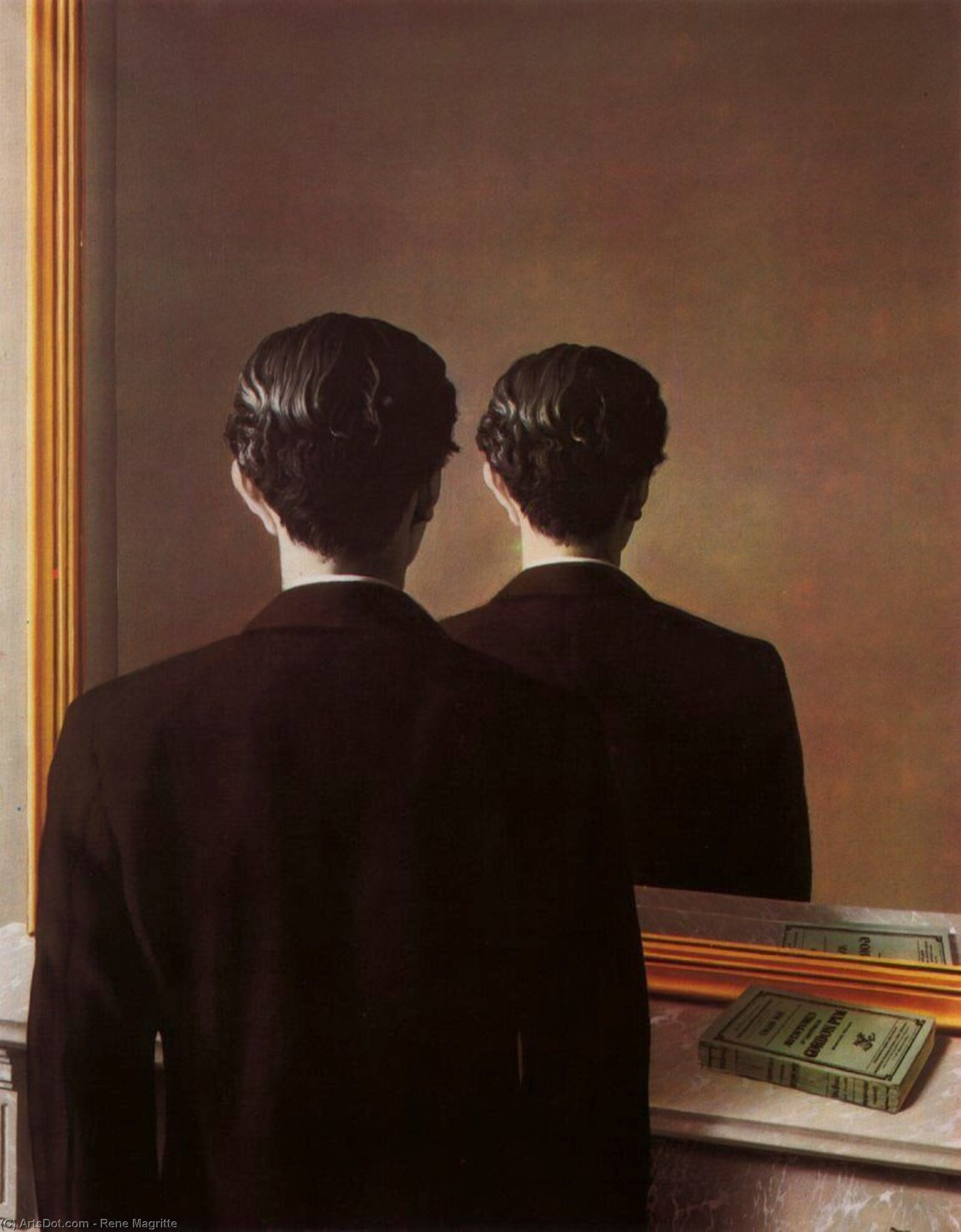 Reproduction prohibited by Rene Magritte (1898-1967, Belgium)
