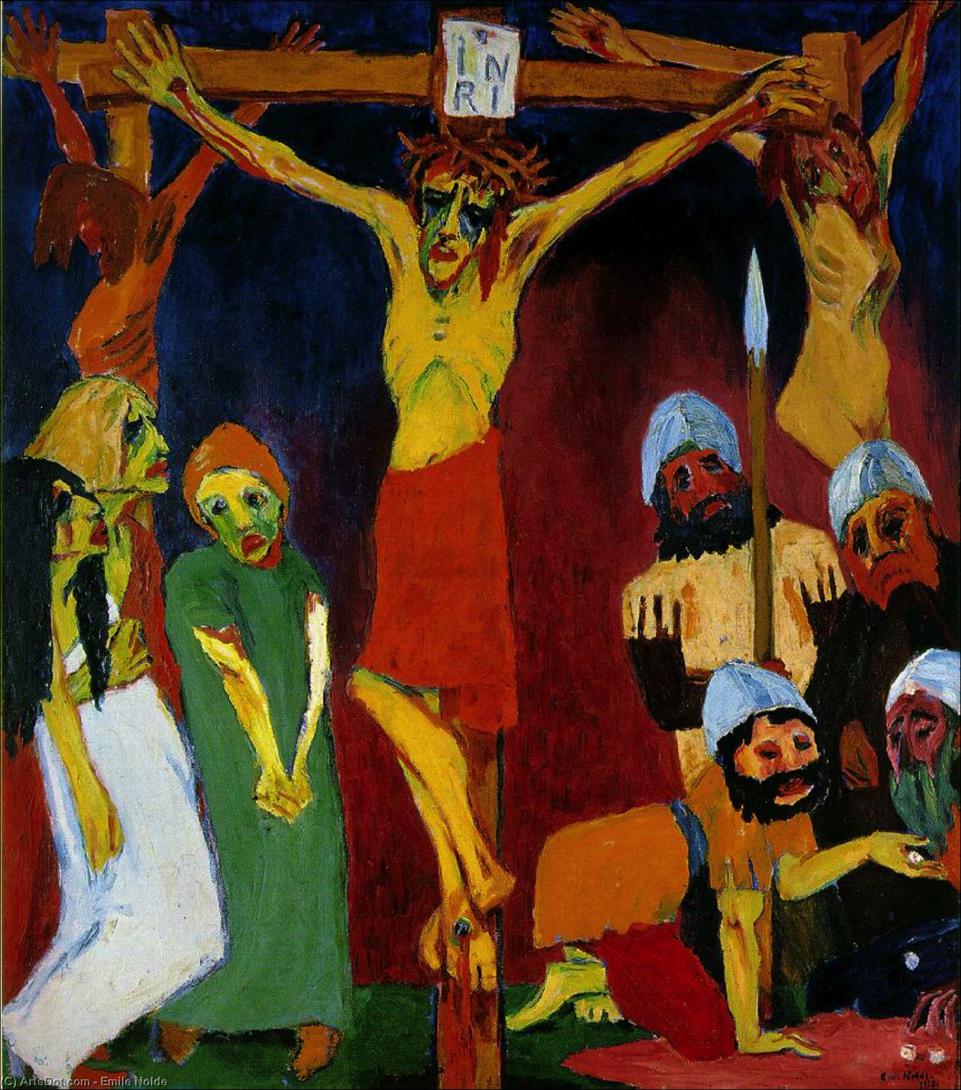 Crucifixion,, 1912 by Emile Nolde (1867-1956, Germany) | Oil Painting | ArtsDot.com