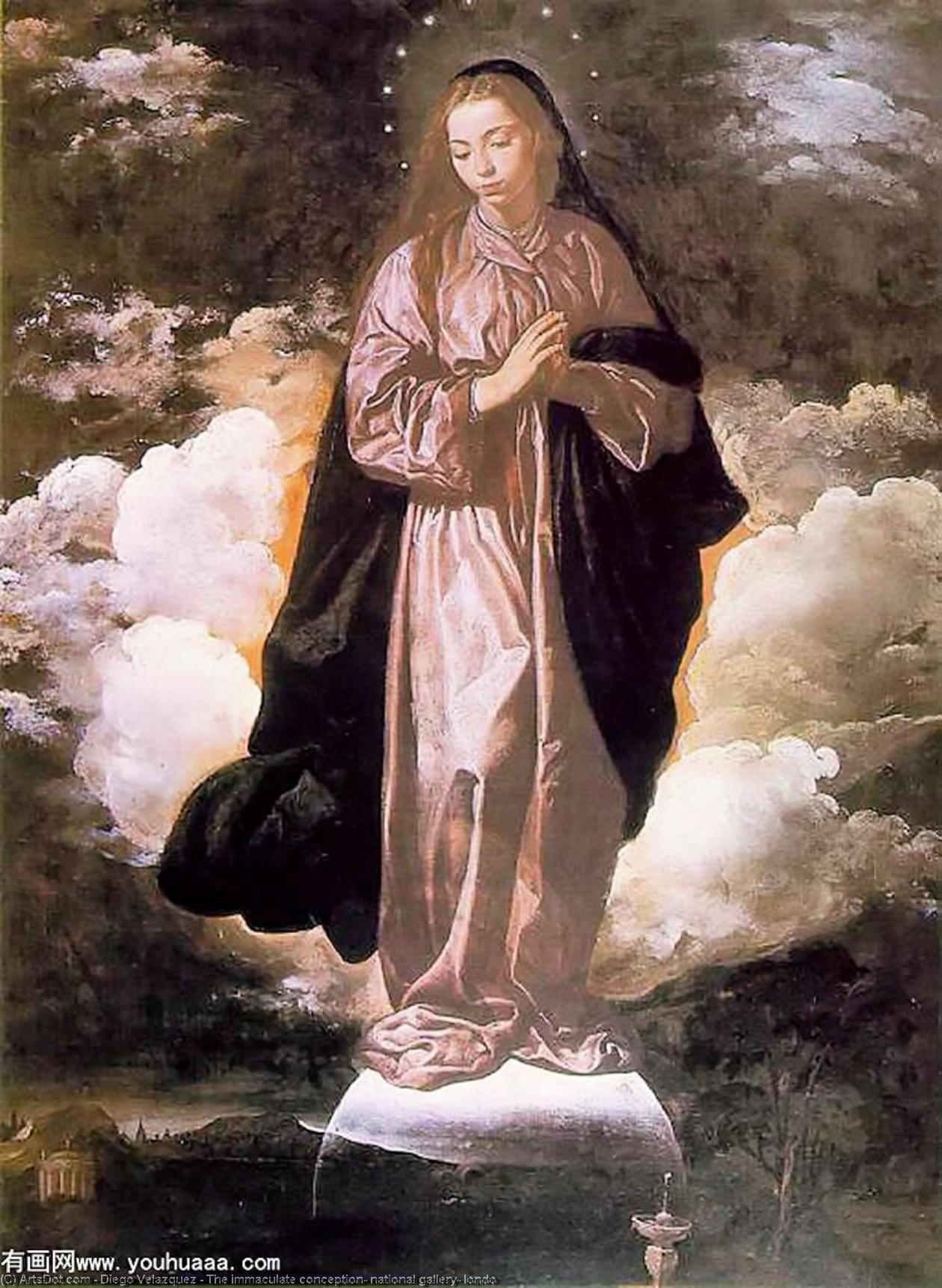 The immaculate conception, national gallery, londo by Diego Velazquez (1599-1660, Spain) | Painting Copy | ArtsDot.com