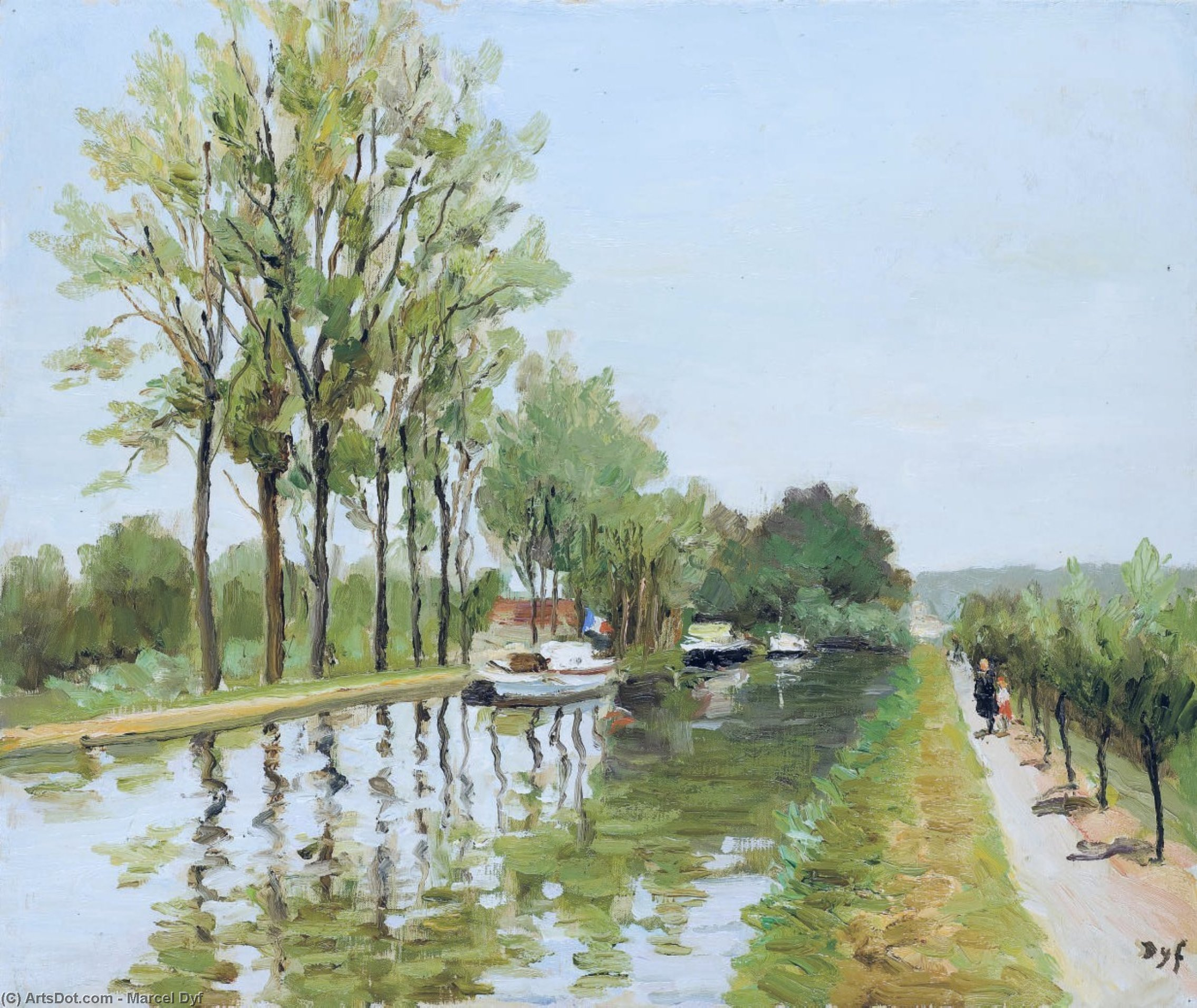 The Canal of Nantes at Brest, (1979) by Marcel Dyf (1899-1985, France) | Art Reproduction | ArtsDot.com