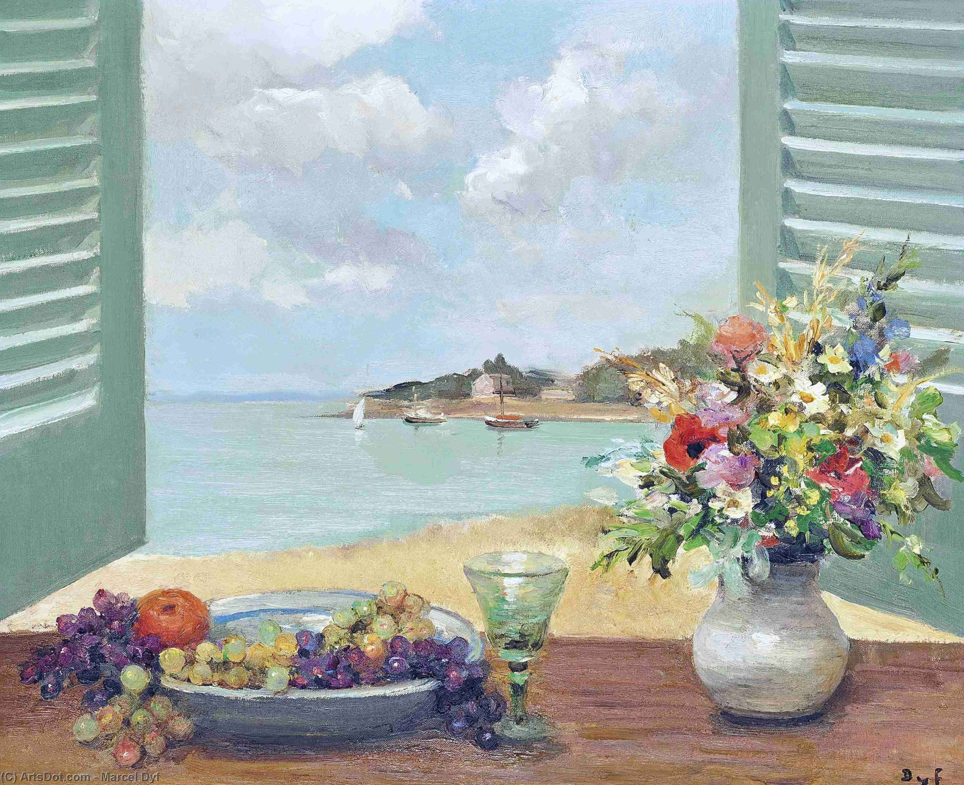 Window over the Sea, (1980) by Marcel Dyf (1899-1985, France)