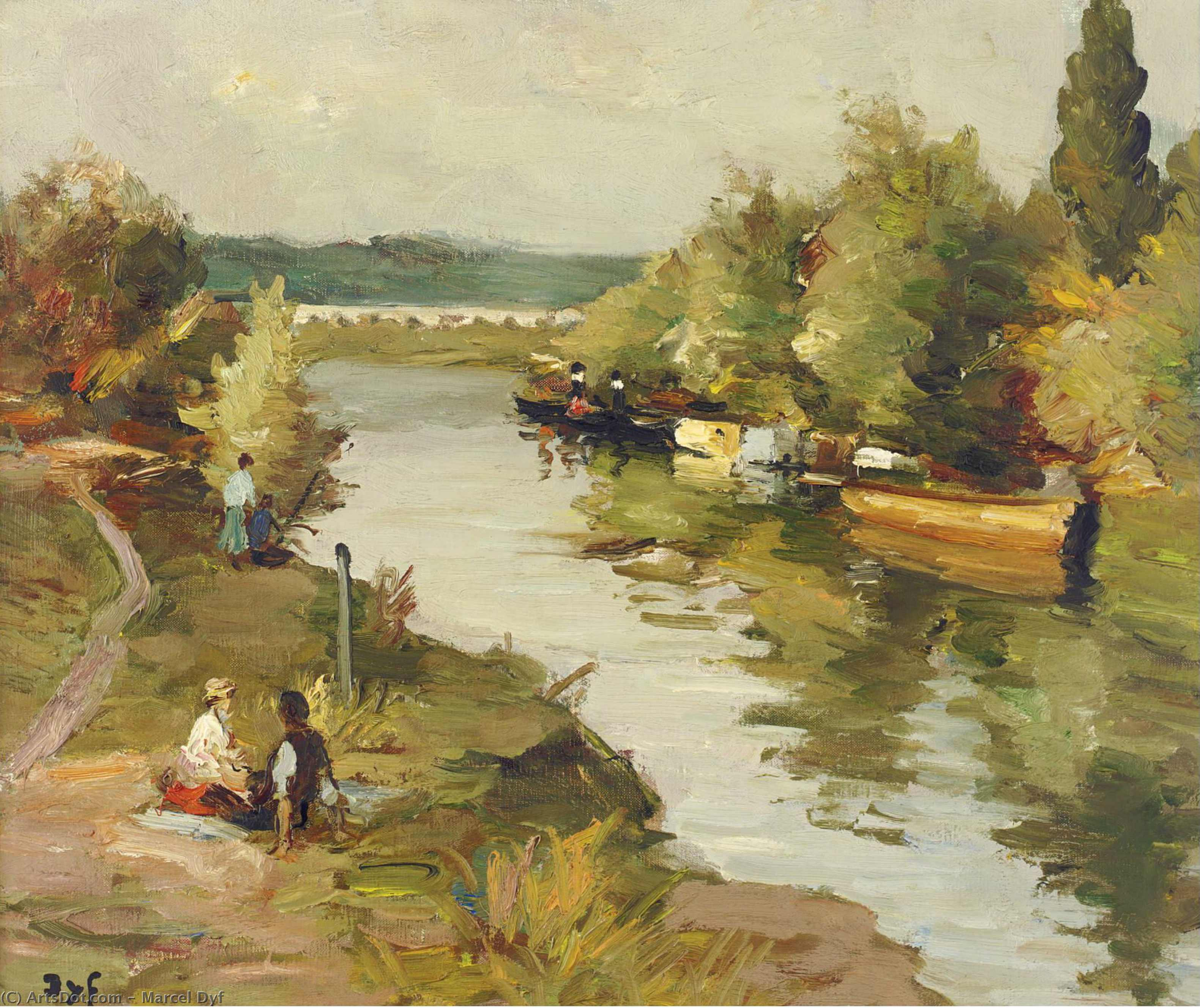 River at Amoureux, (1955) by Marcel Dyf (1899-1985, France)
