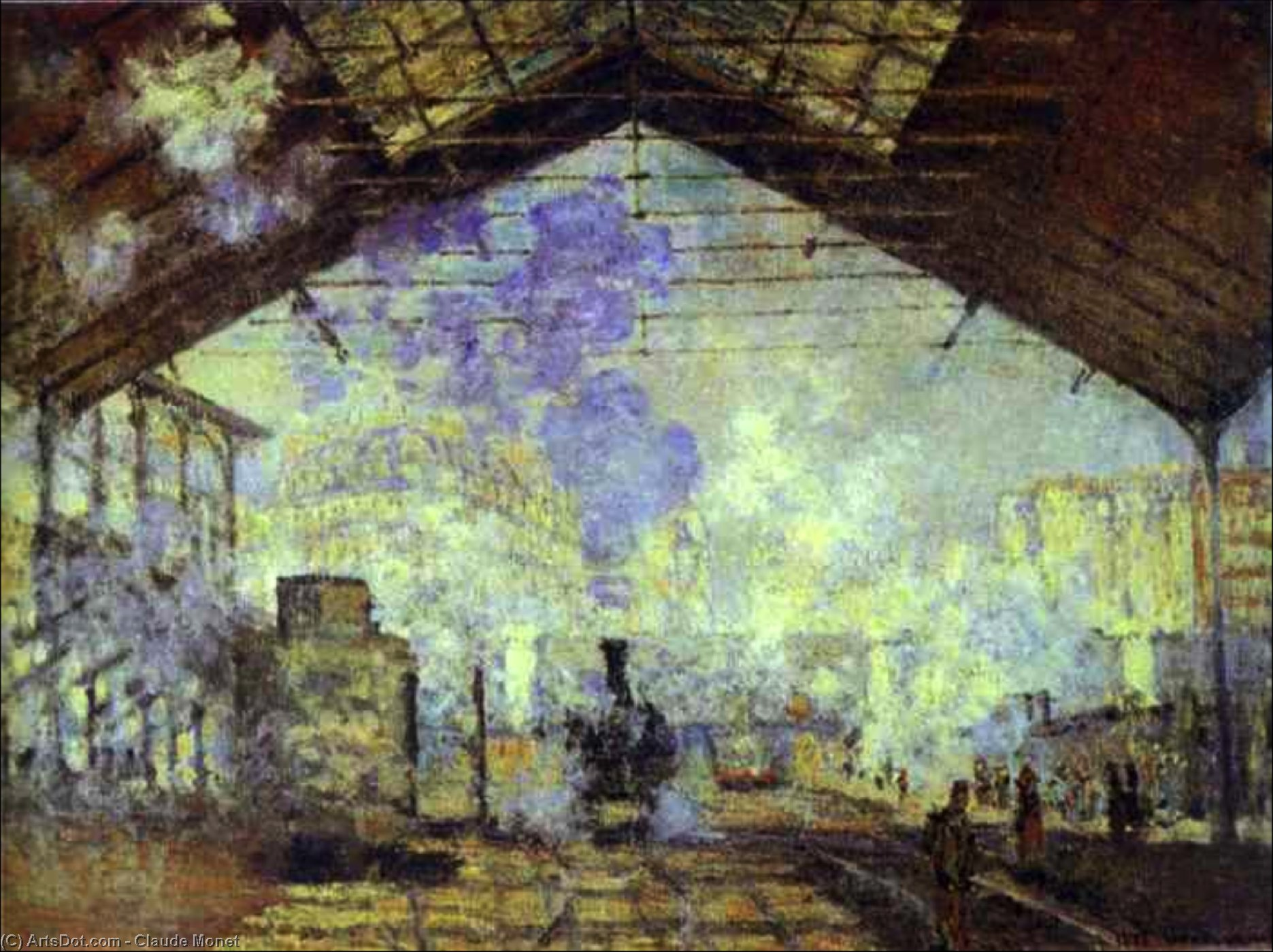 Gare Saint Lazare, Pari, 1877 by Claude Monet (1840-1926, France) | Museum Art Reproductions | ArtsDot.com