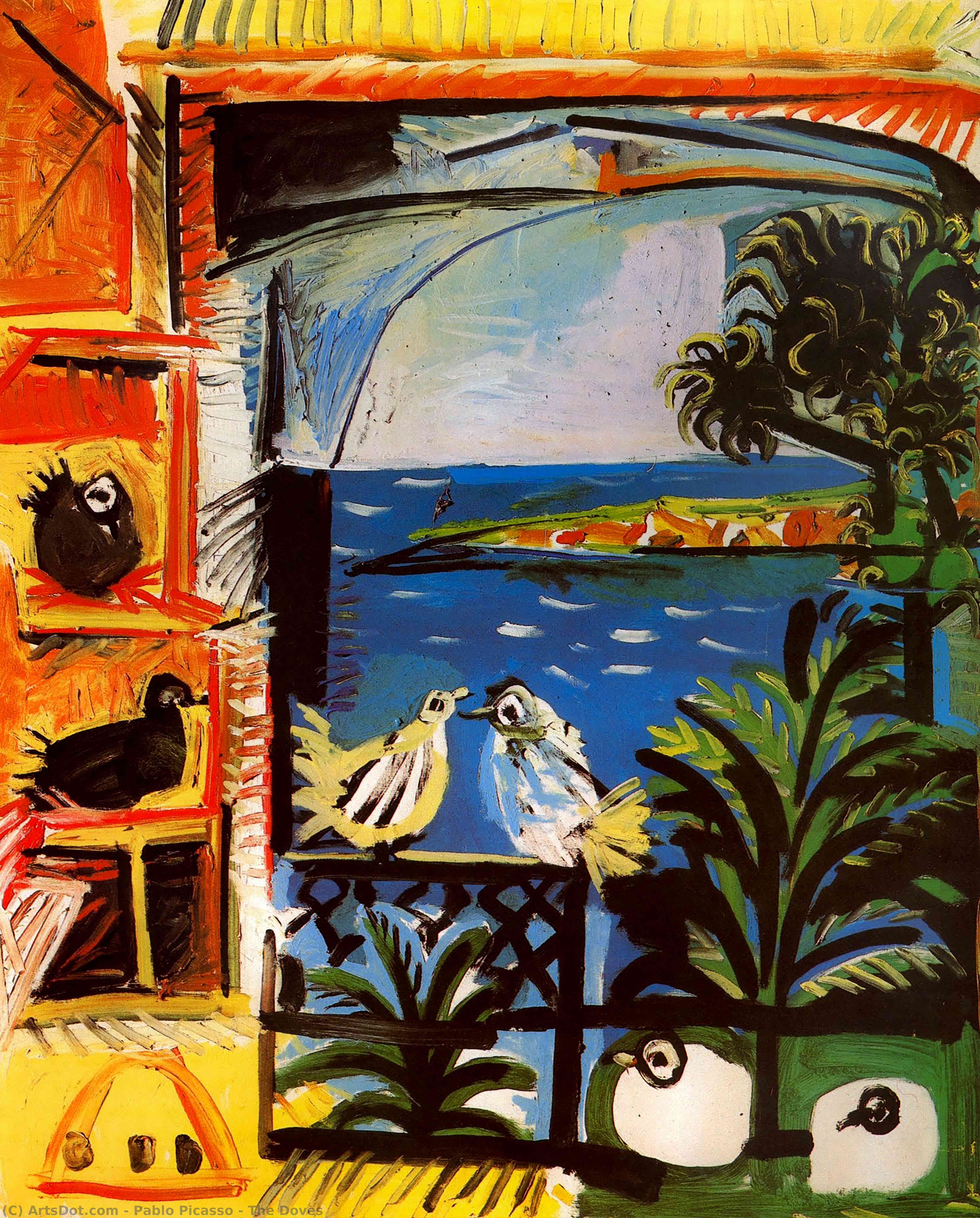 The Doves by Pablo Picasso (1881-1973, Spain) |  | ArtsDot.com
