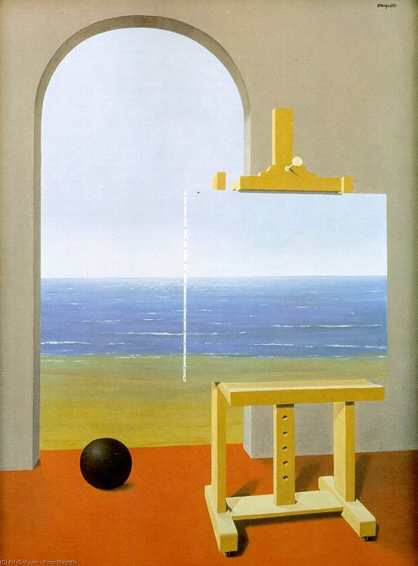 The Human Condition, Oil by Rene Magritte (1898-1967, Belgium)