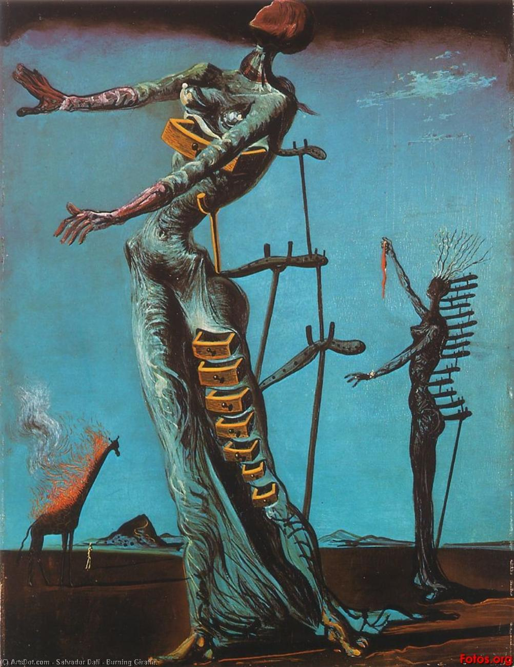 Burning Giraffe by Salvador Dali (1938-1989, Spain) |  | ArtsDot.com