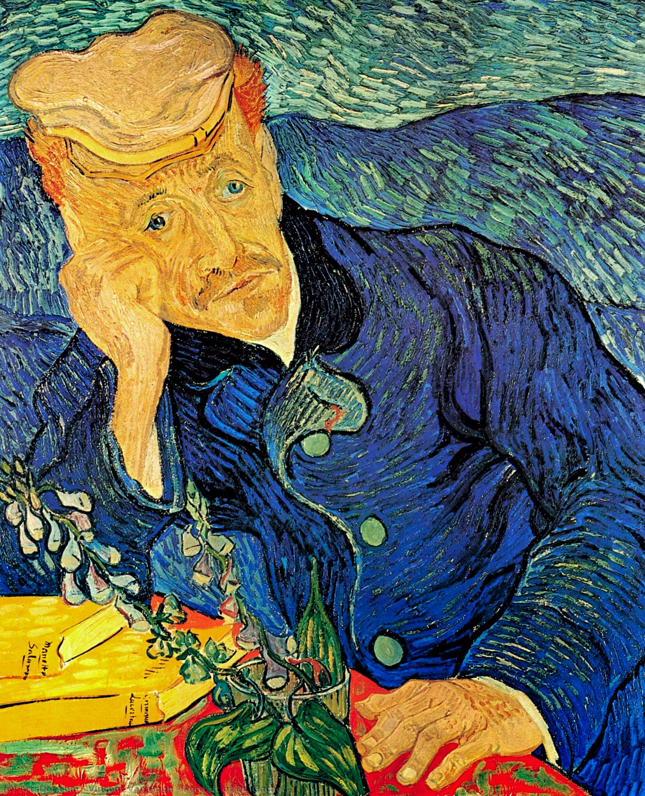 Order Museum Quality Copies | Portrait of Dr. Gachet by Vincent Van Gogh (1853-1890, Netherlands) | ArtsDot.com