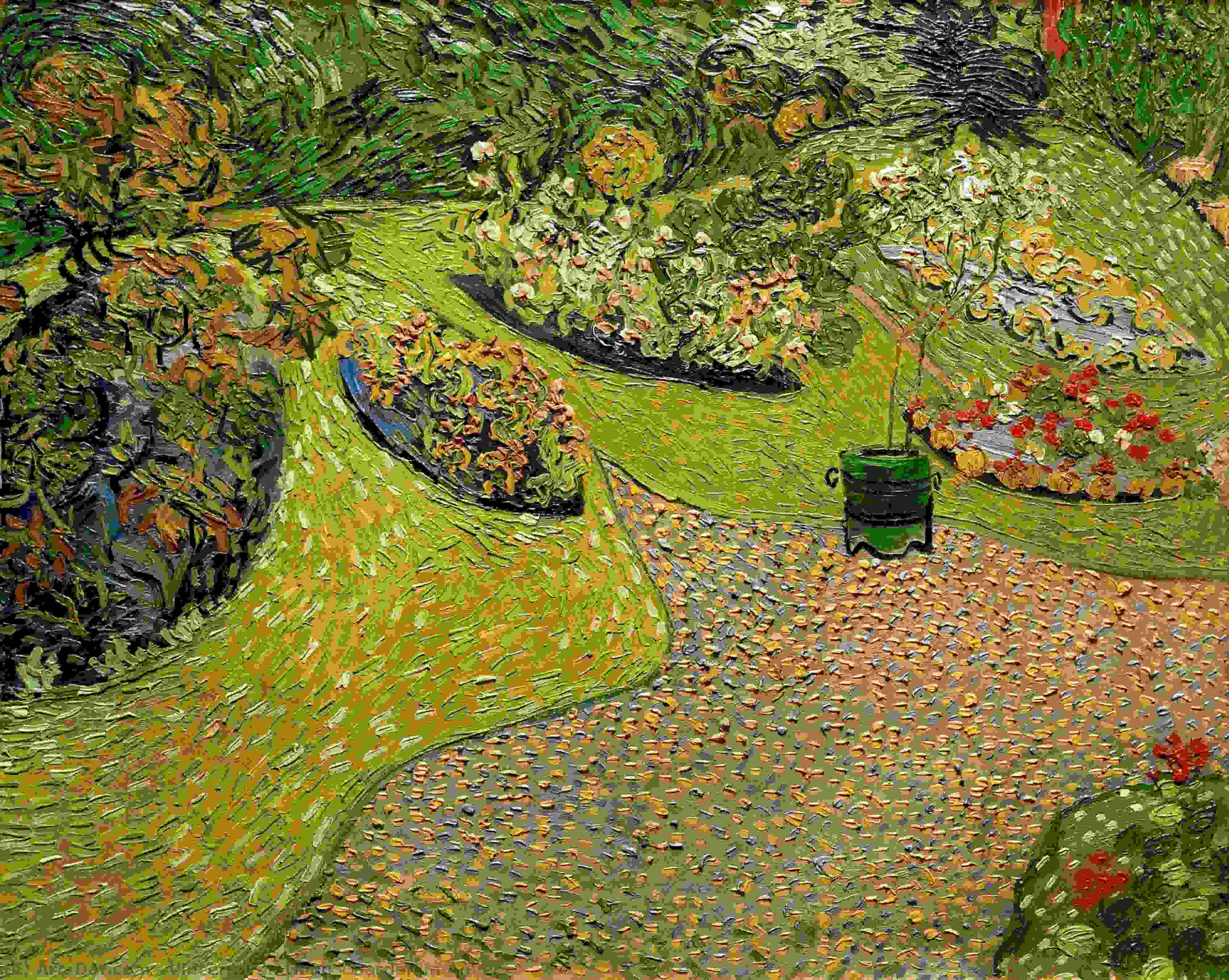 Order Paintings Reproductions | Garden in Auvers, 1890 by Vincent Van Gogh (1853-1890, Netherlands) | ArtsDot.com