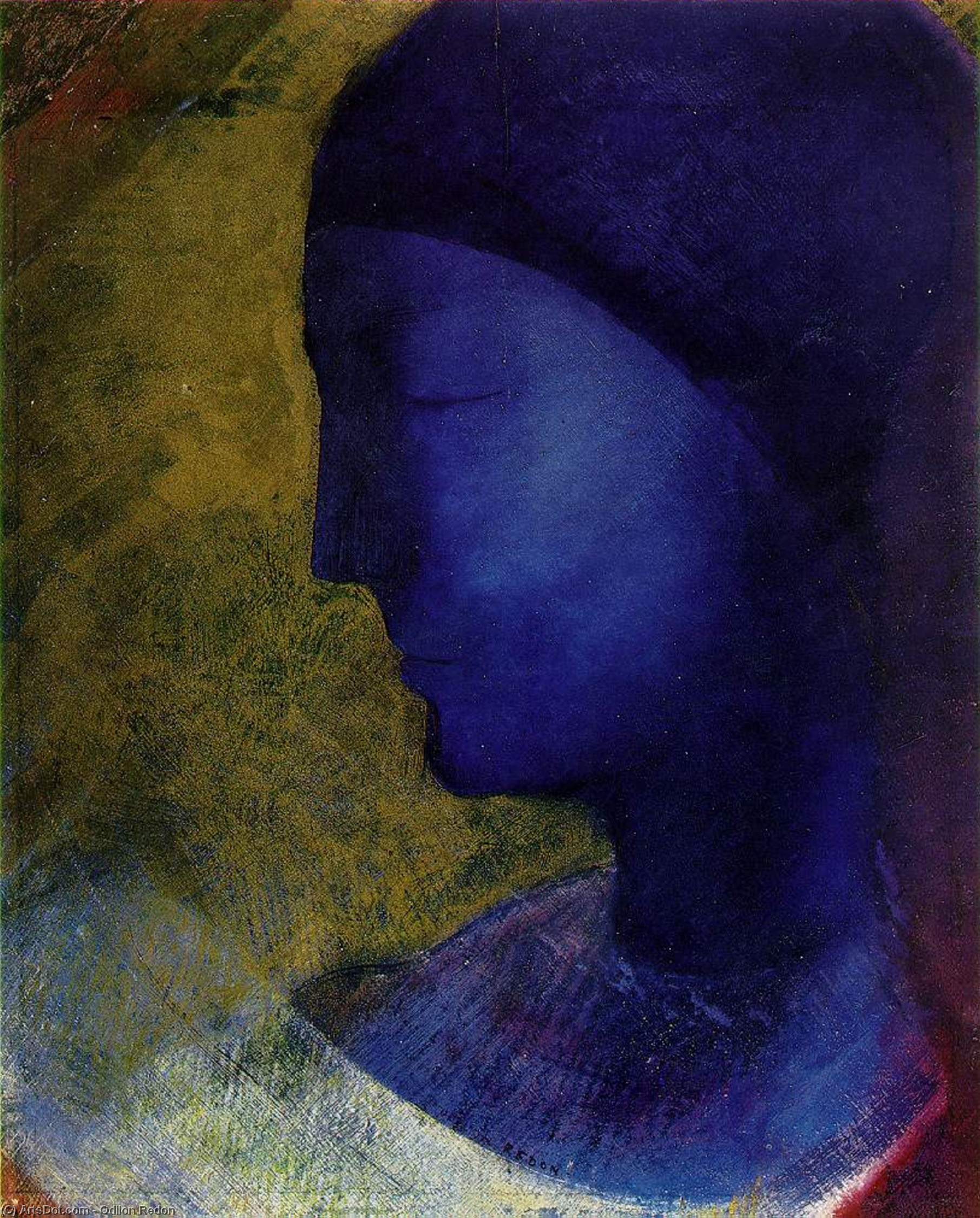 The Golden Cell, 1892 by Odilon Redon (1840-1916, France) | Painting Copy | ArtsDot.com