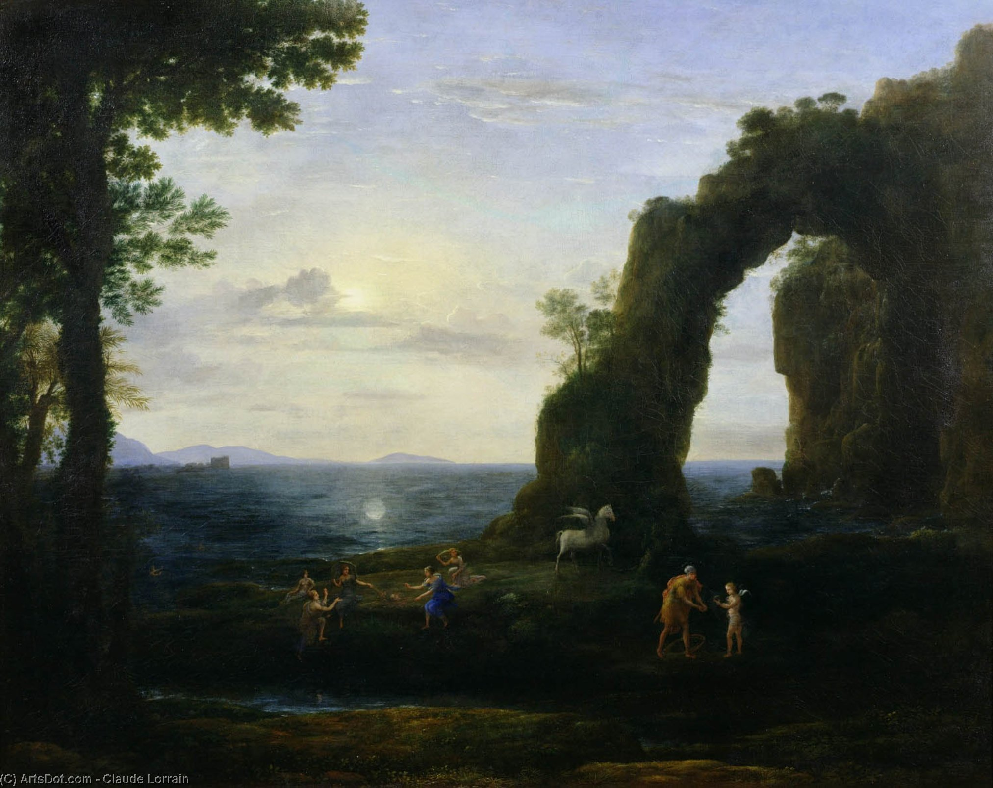 The Origin of Coral or Perseus with Head of the Medusa by Claude Lorrain (Claude Gellée) | Oil Painting | ArtsDot.com
