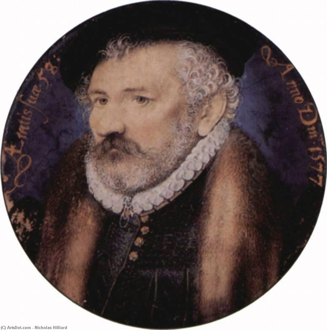 Richard Hilliard by Nicholas Hilliard (1577-1619, United Kingdom) | Painting Copy | ArtsDot.com