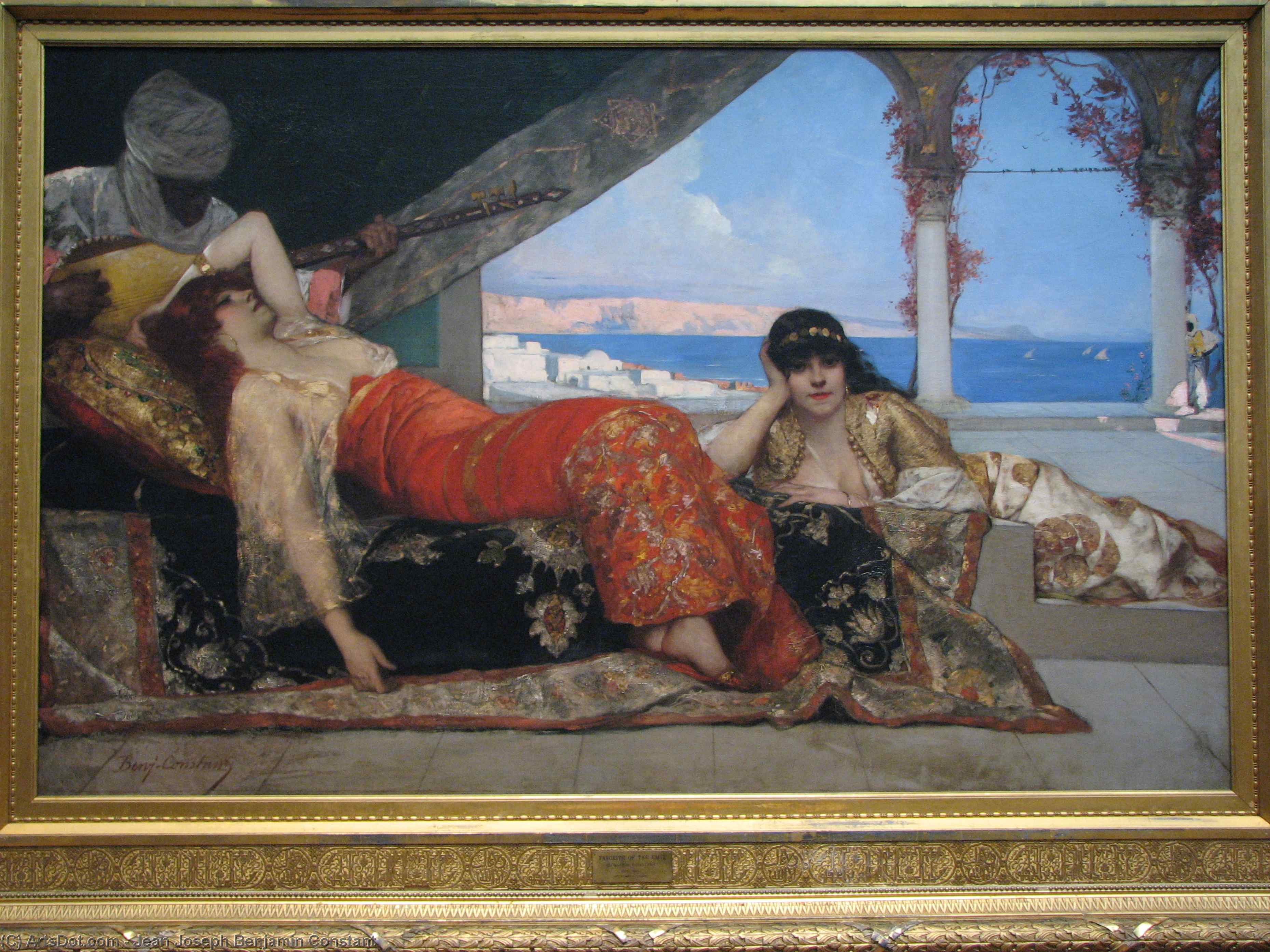 Favorite of the Emir by Jean-Joseph Constant (Benjamin-Constant) (1845-1902, France) | Paintings Reproductions Jean-Joseph Constant (Benjamin-Constant) | ArtsDot.com