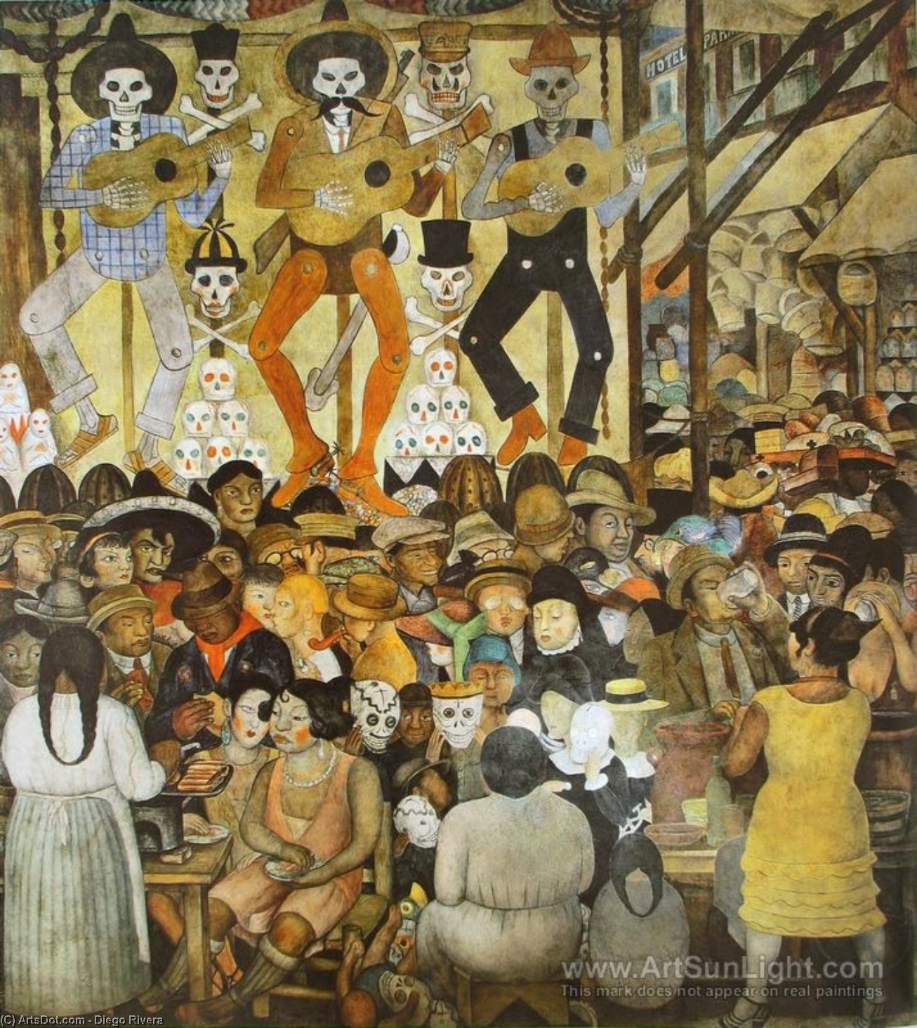The Day of the Dead, Frescoes by Diego Rivera (1886-1957, Mexico)
