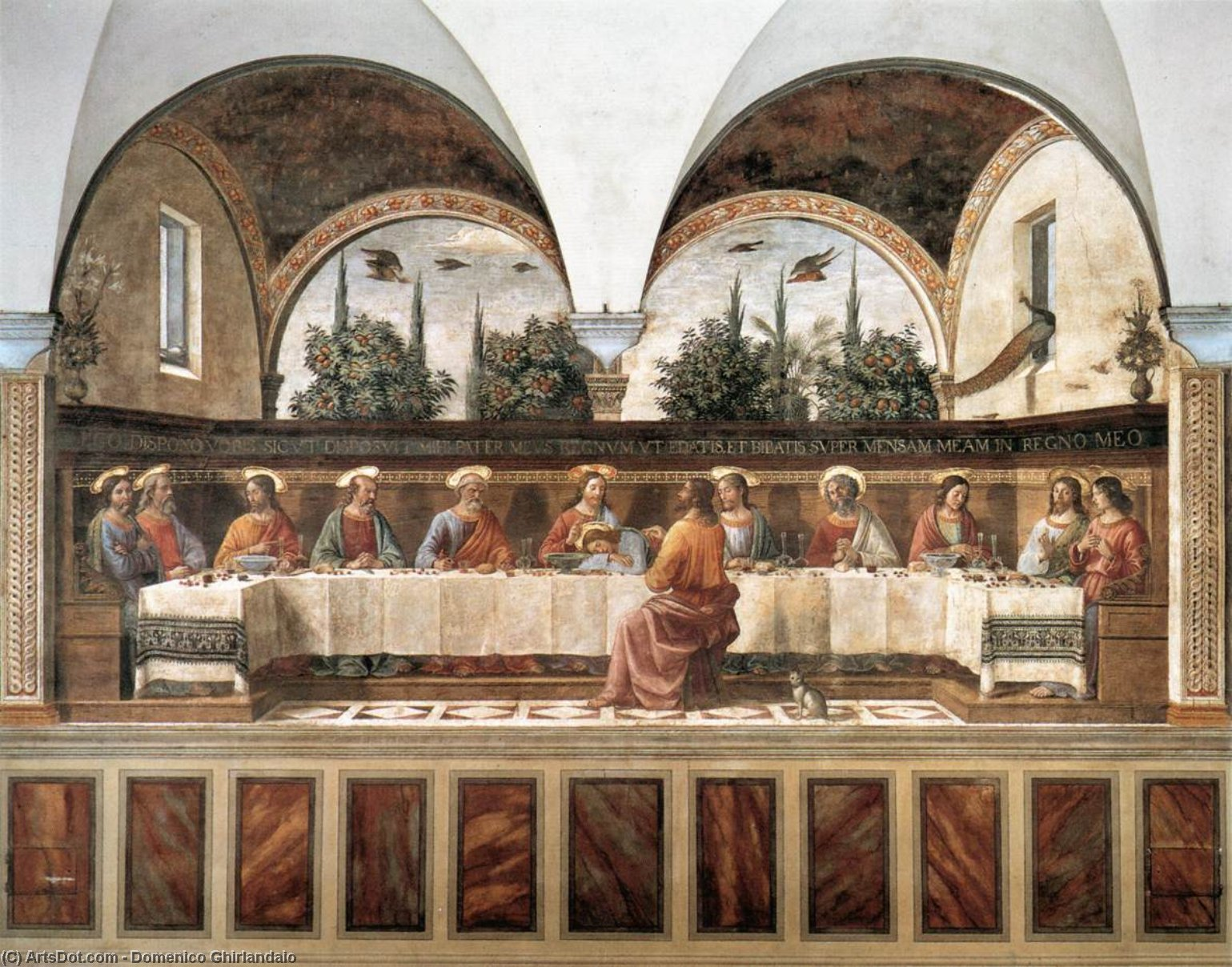 Last Supper 1 by Domenico Ghirlandaio (1449-1494, Italy) | Oil Painting | ArtsDot.com